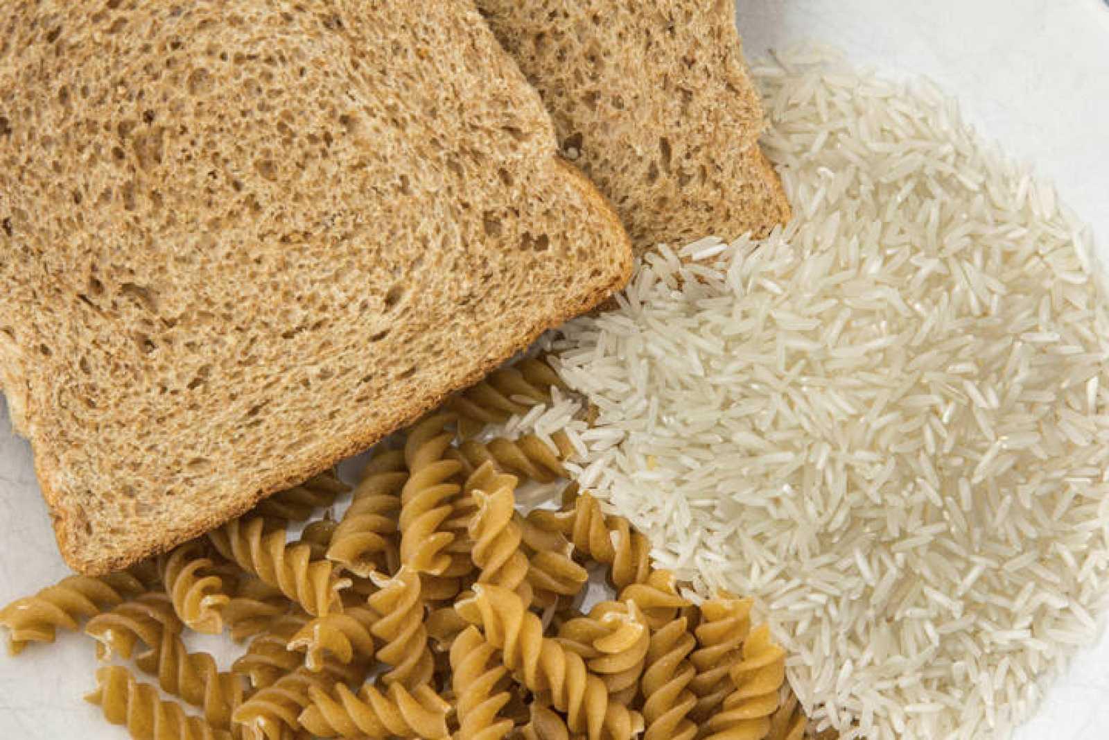 Pan, arroz y pasta.