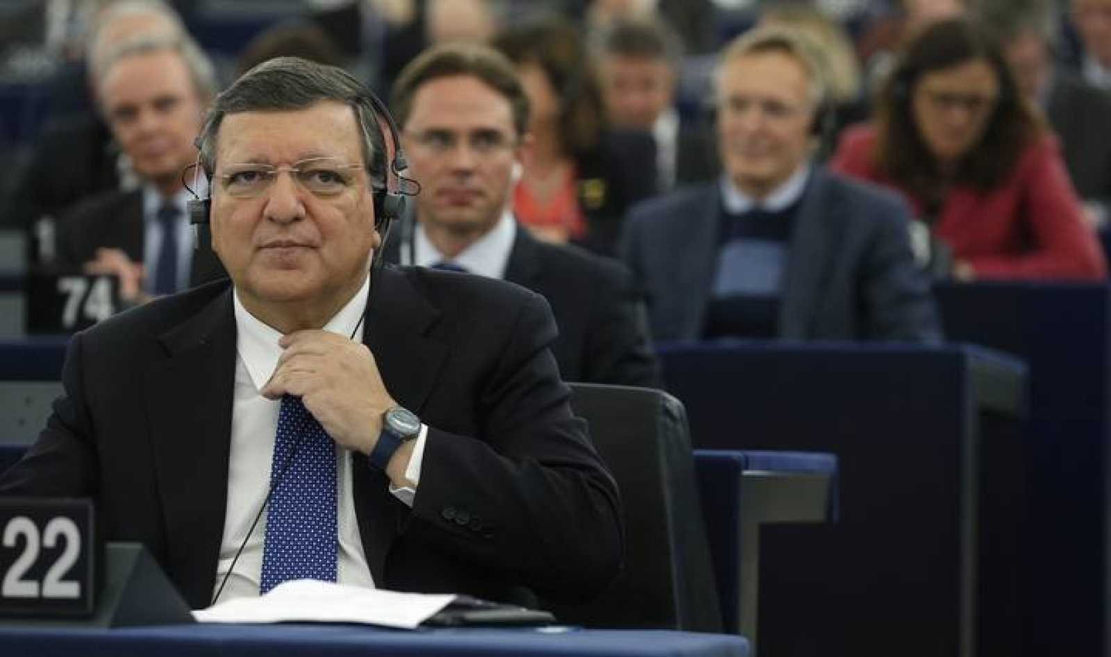Outgoing European Commission President Barroso attends the review of the Barroso II Commission at the EU Parliament in Strasbourg