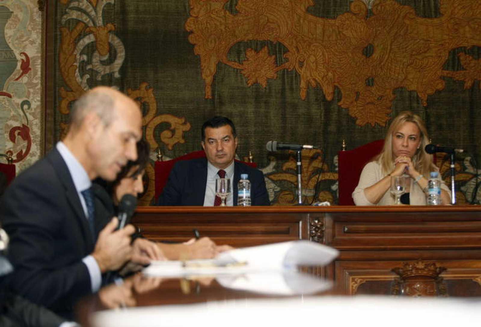 La alcaldesa de Alicante, Sonia Castedo, en el pleno municipal para sacar adelante los presupuestos de 2015.