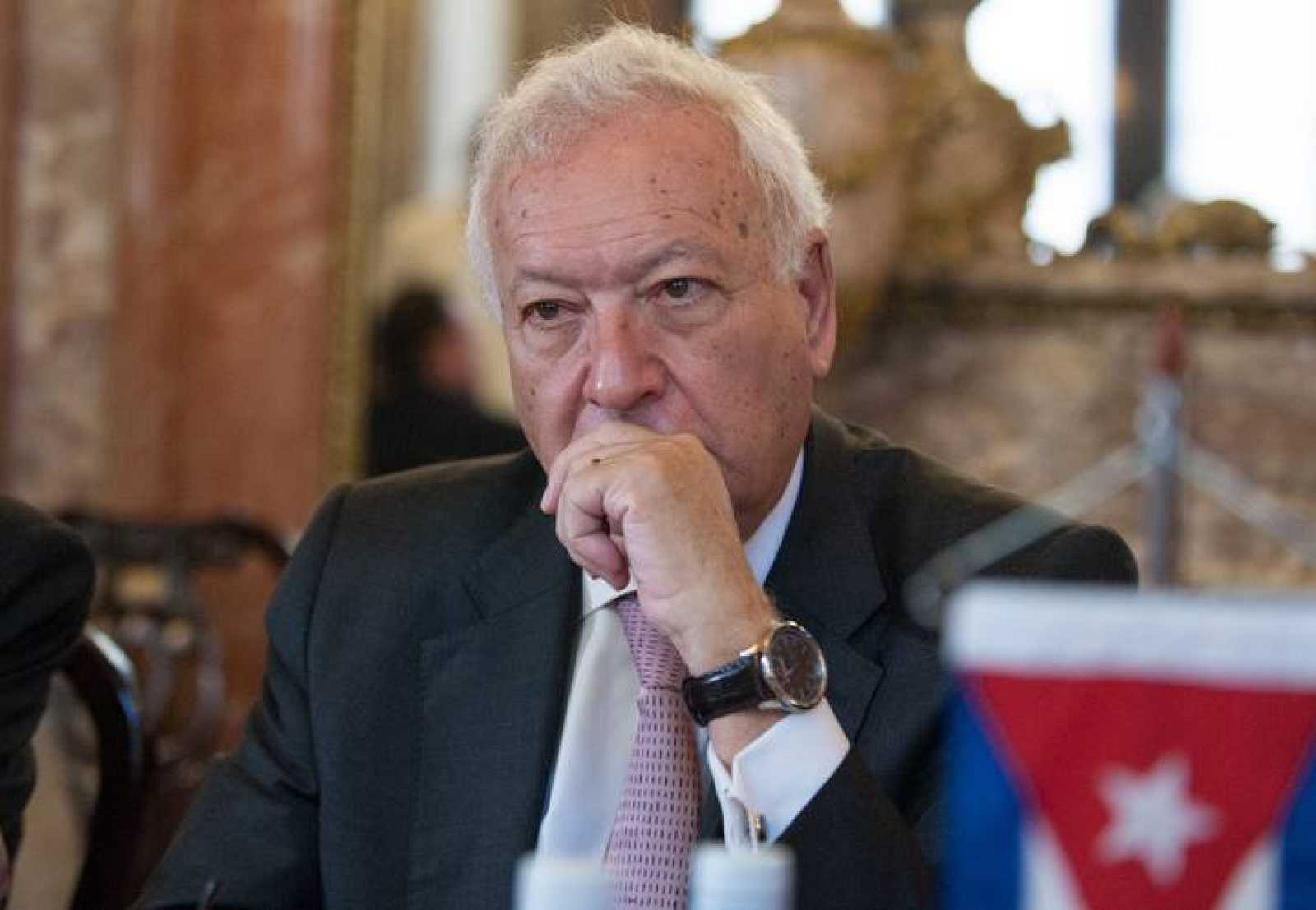 El ministro de Exteriores, Jose Manuel García-Margallo, durante su visita a Cuba.