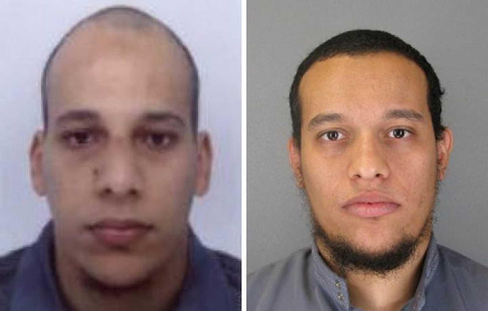 De izquierda a derecha, Chérif Kouachi, de 32 años, y su hermano Said, de 34, sospechosos del atentado en París.