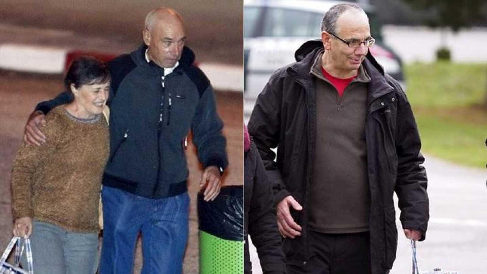 Los presos etarras 'Santi Potros' y Alberto Plazaola, excarcelados el, pasado 4 de diciembre.
