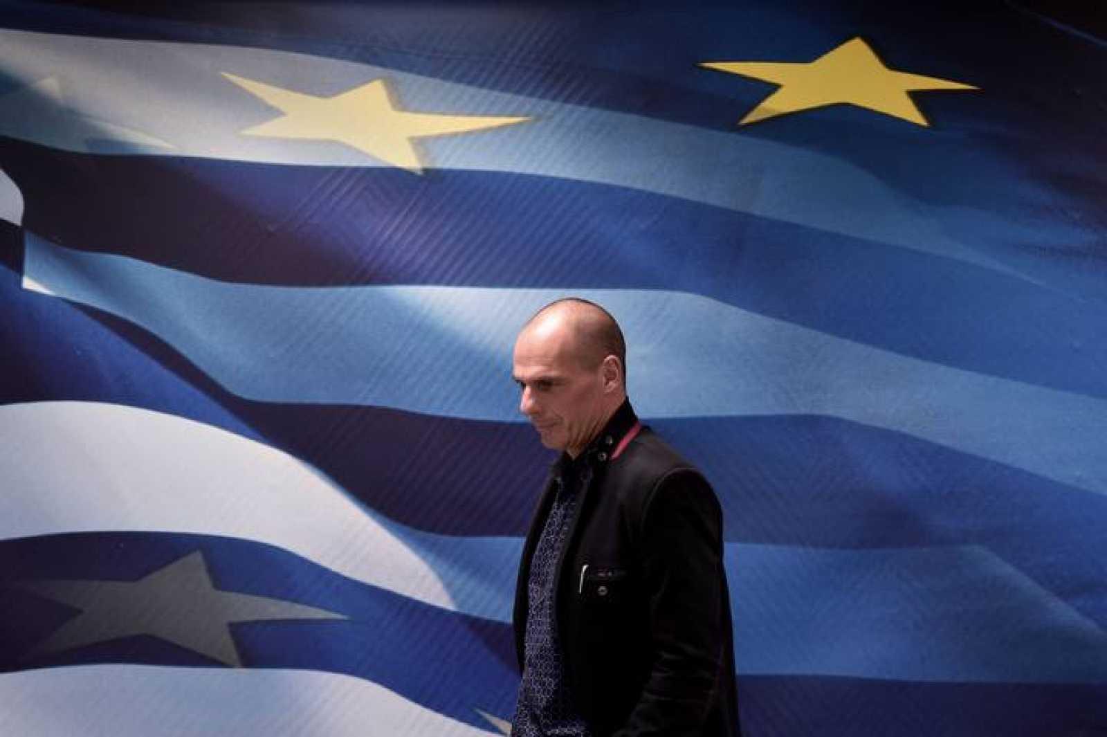 El ministro griego de Finanzas, Yanis Varoufakis, durante su toma de posesión en Atenas.