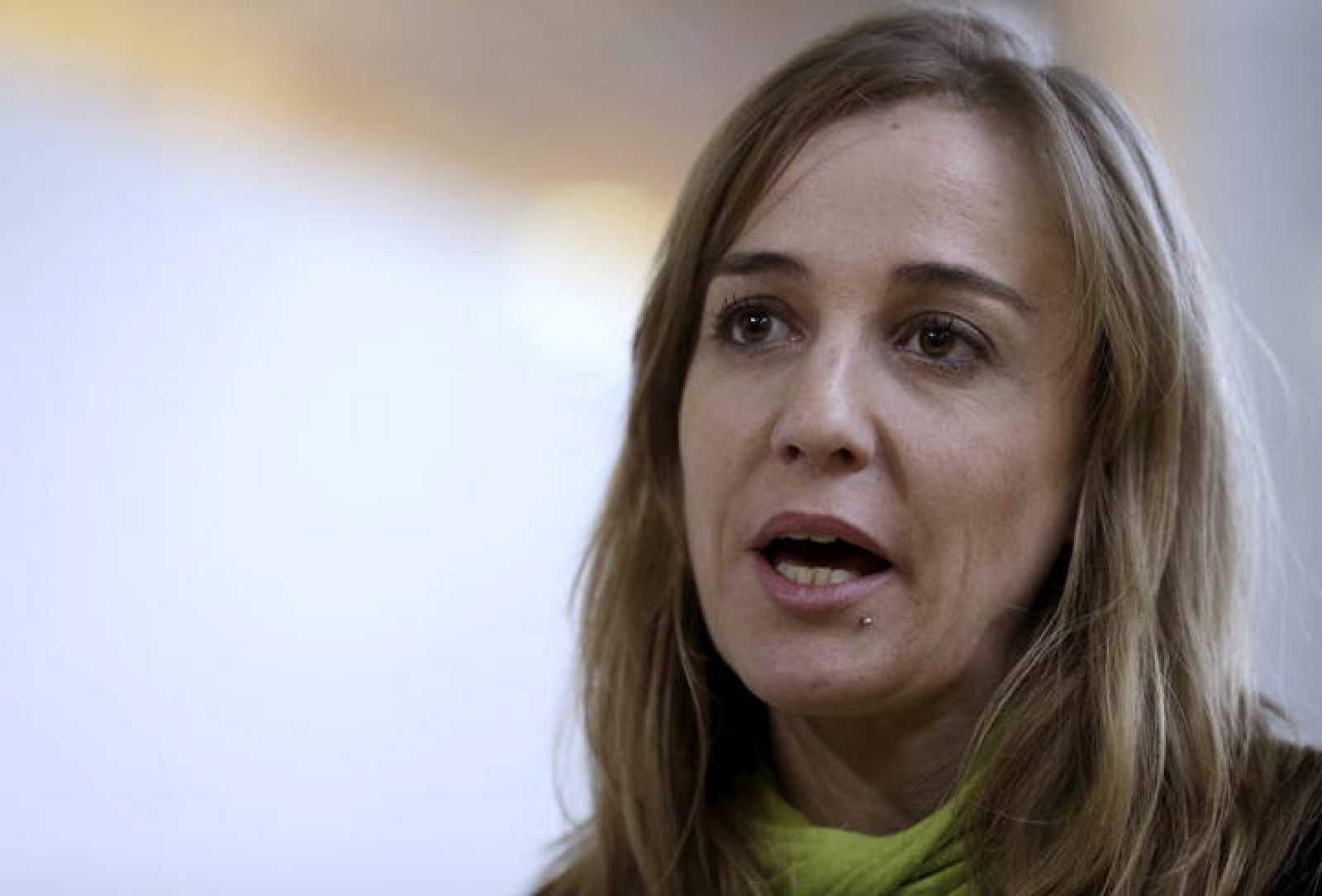 La exdiputada regional de IU, Tania Sánchez, durante un encuentro ciudadano para crear un referente político unitario en la Comunidad de Madrid.