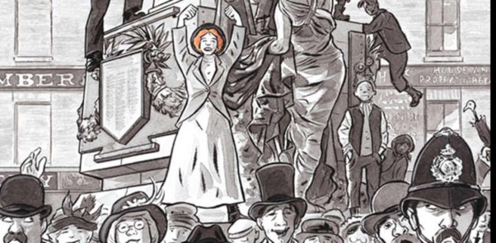 Fragmento de la portada de 'Sally Heathcote: Sufragista'