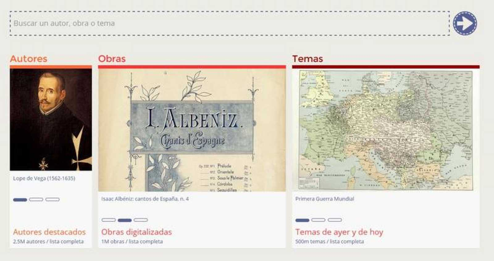 Pantallazo del nuevo portal de datos de la Biblioteca Nacional de España.