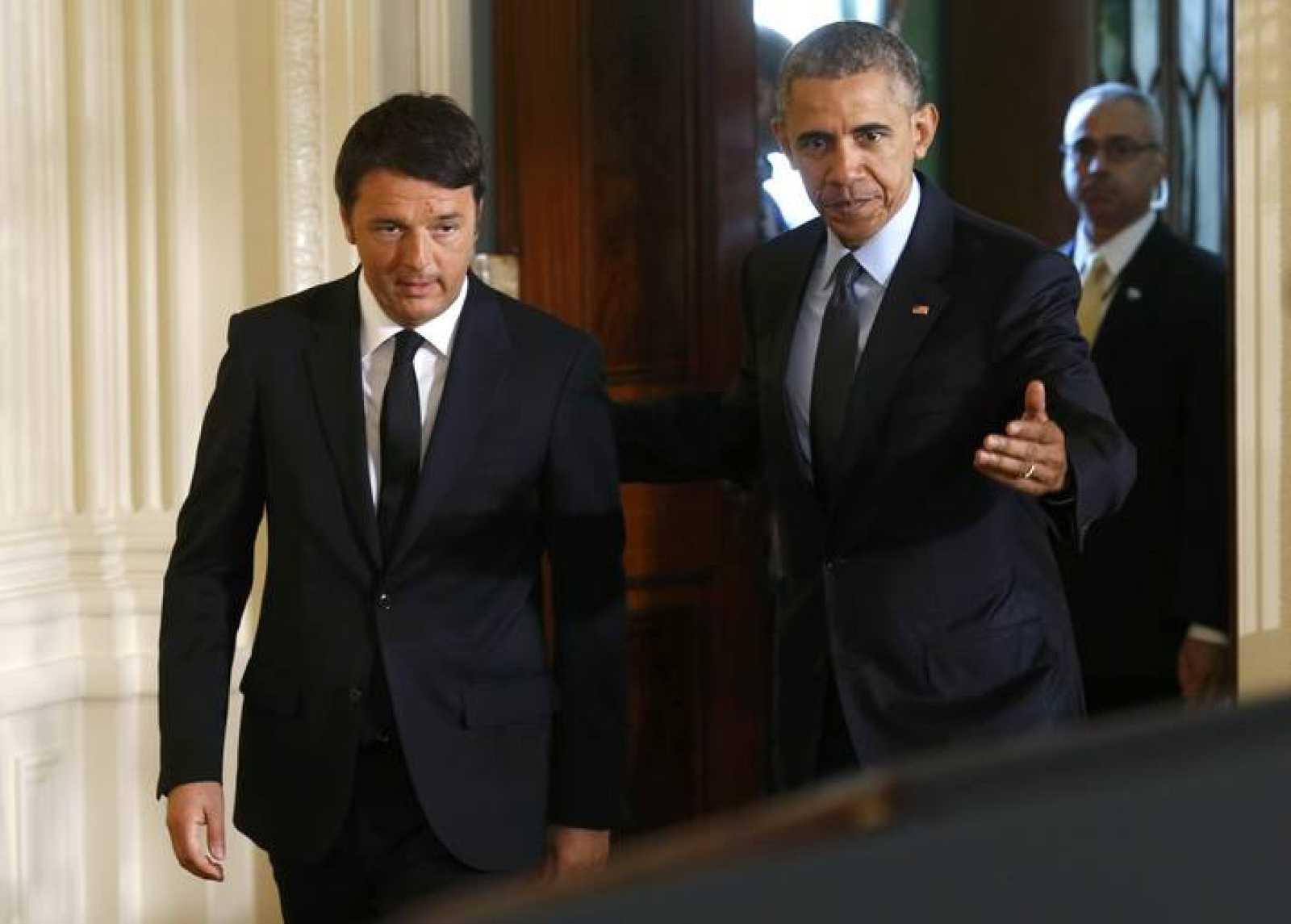Obama y Renzi en la Casa Blanca