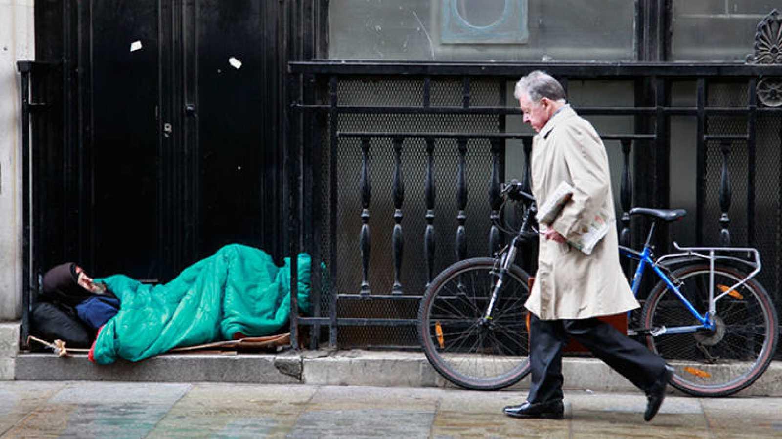 La cifra de personas que duermen en la calle en Londres aumentó más de un tercio entre el otoño de 2013 y otoño de 2014.
