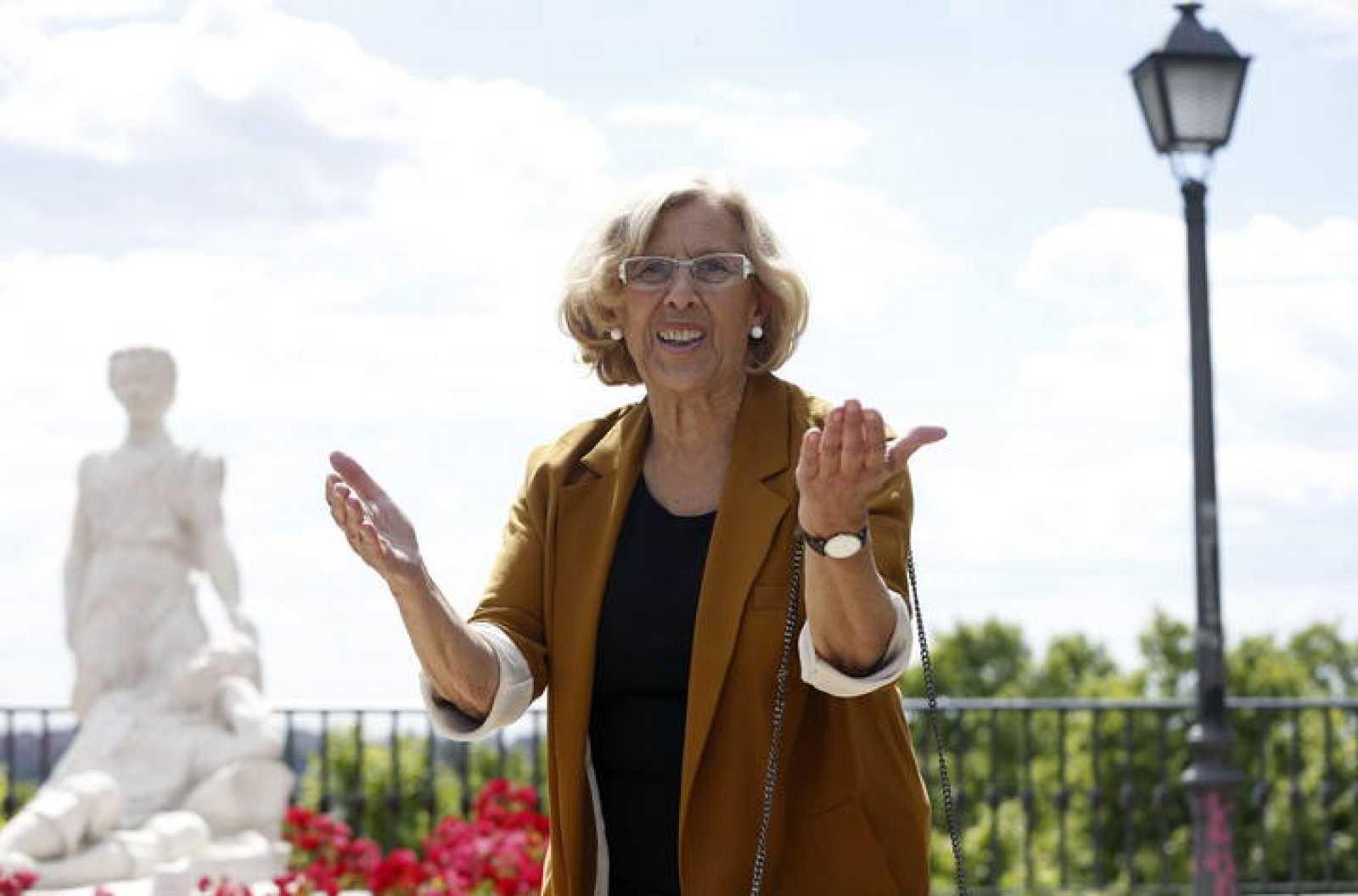 Manuela Carmena asegura que se ve alcadesa de la capital tras las conversaciones con el PSOE