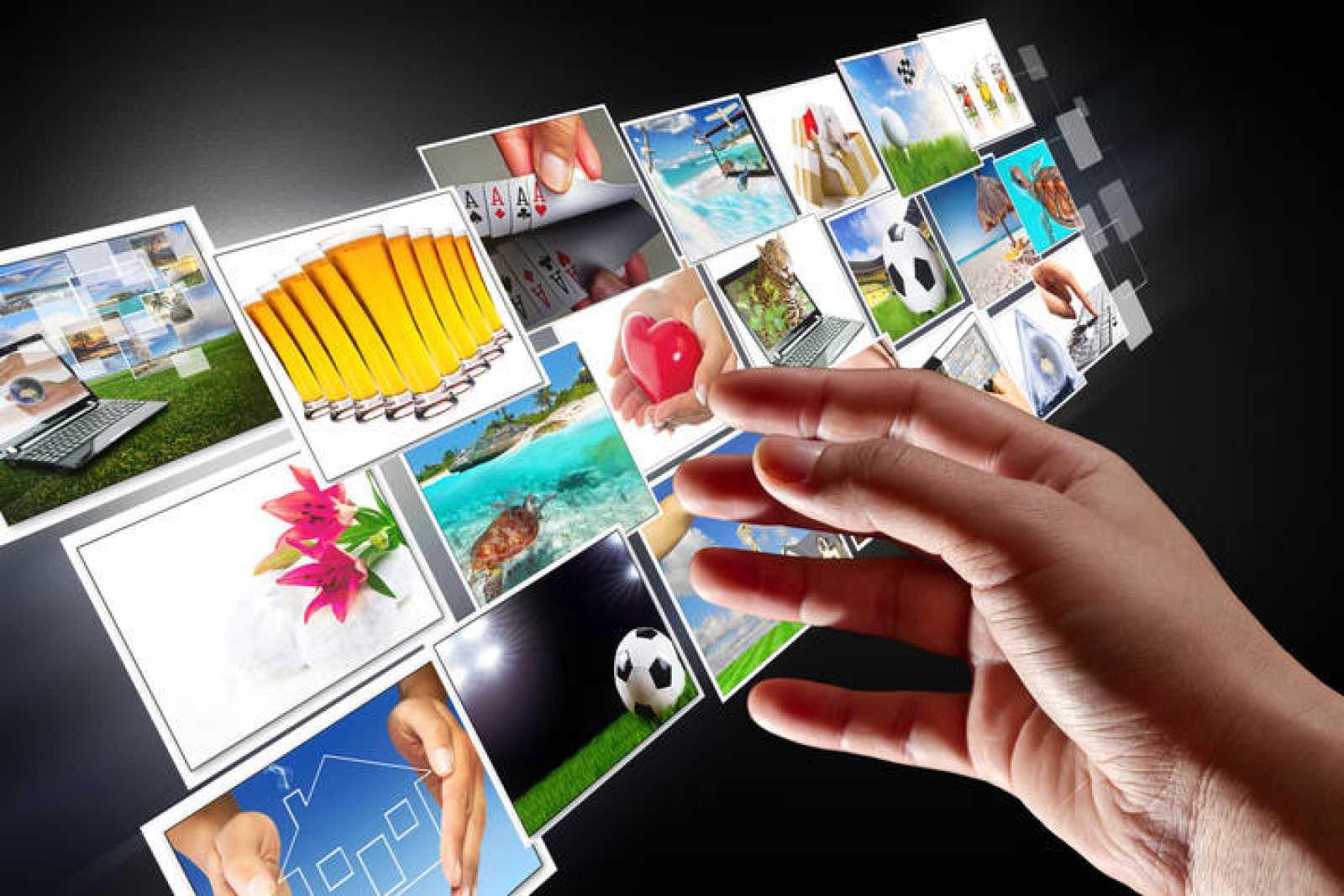 Recreación de televisión digital.