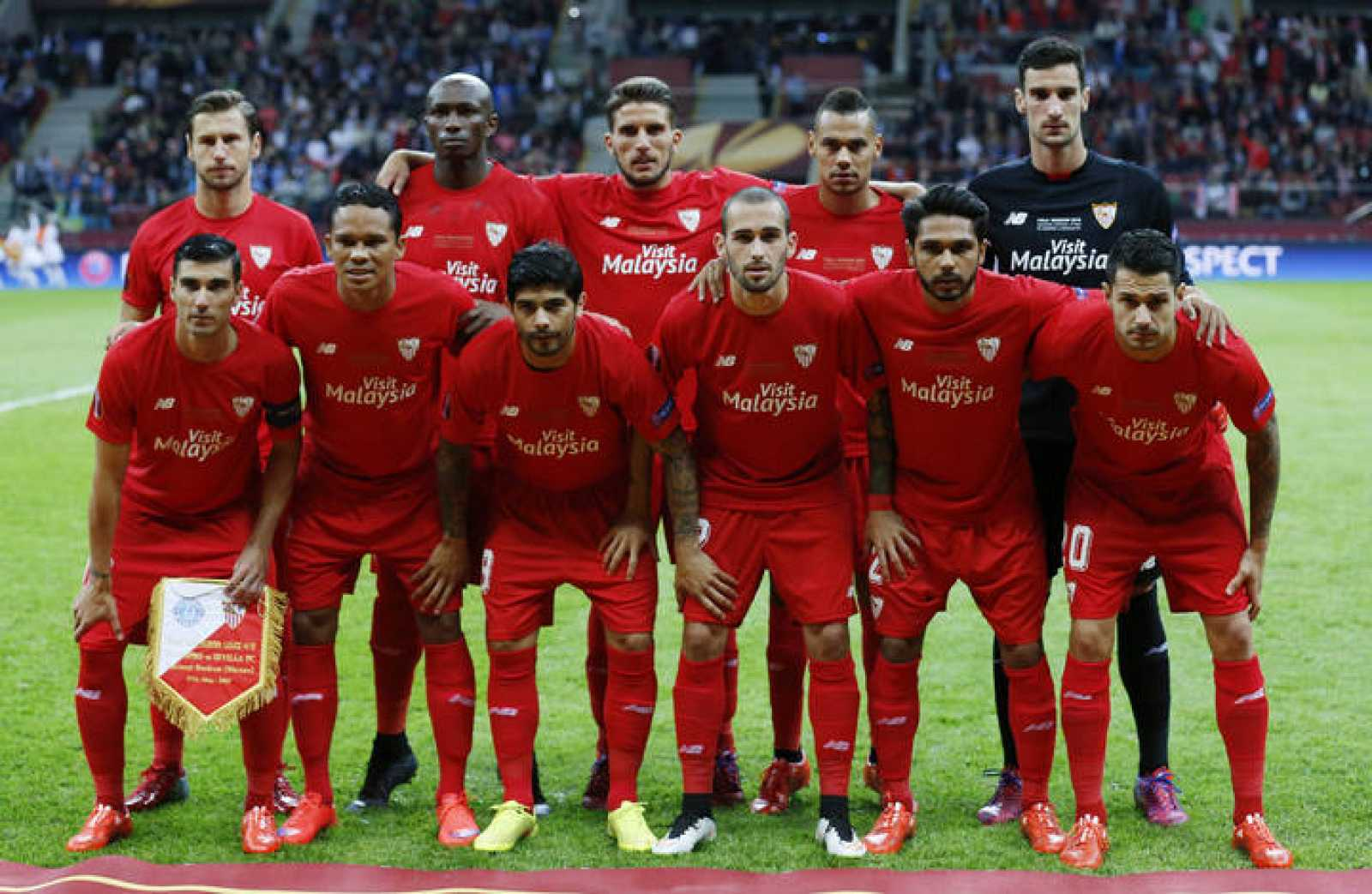 El Sevilla en la final de la Europa League 2015.