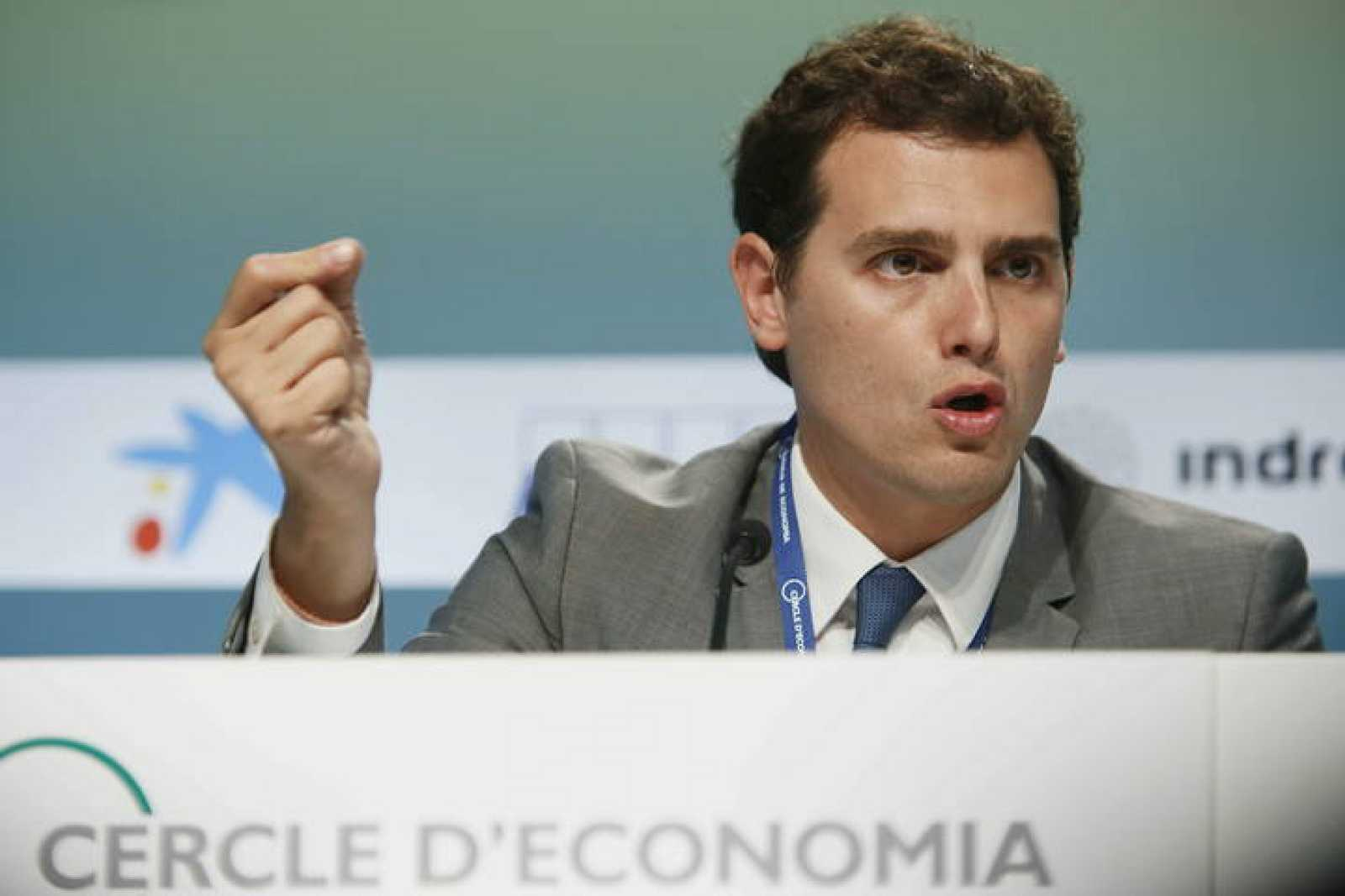 El presidente de Ciudadanos Albert Rivera interviene en el Círculo de Economía de Sitges