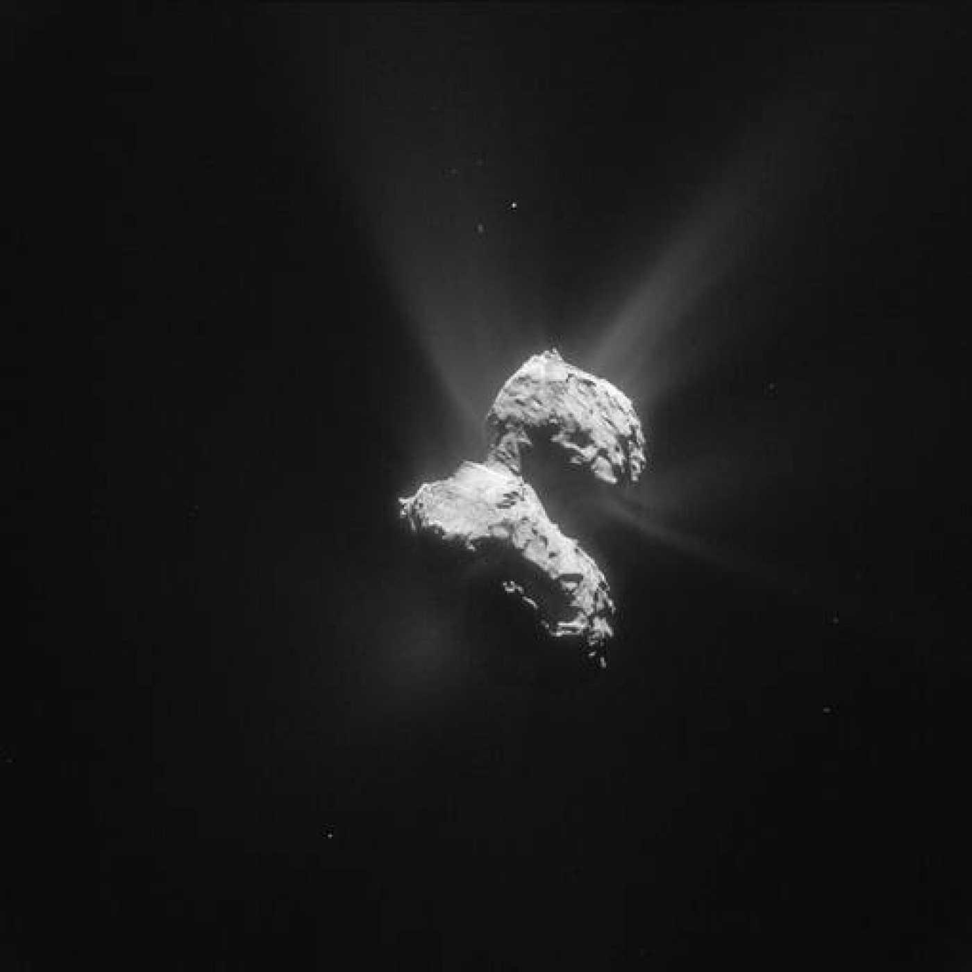 El cometa captado por Rosetta el pasado 21 de mayo de 2015.