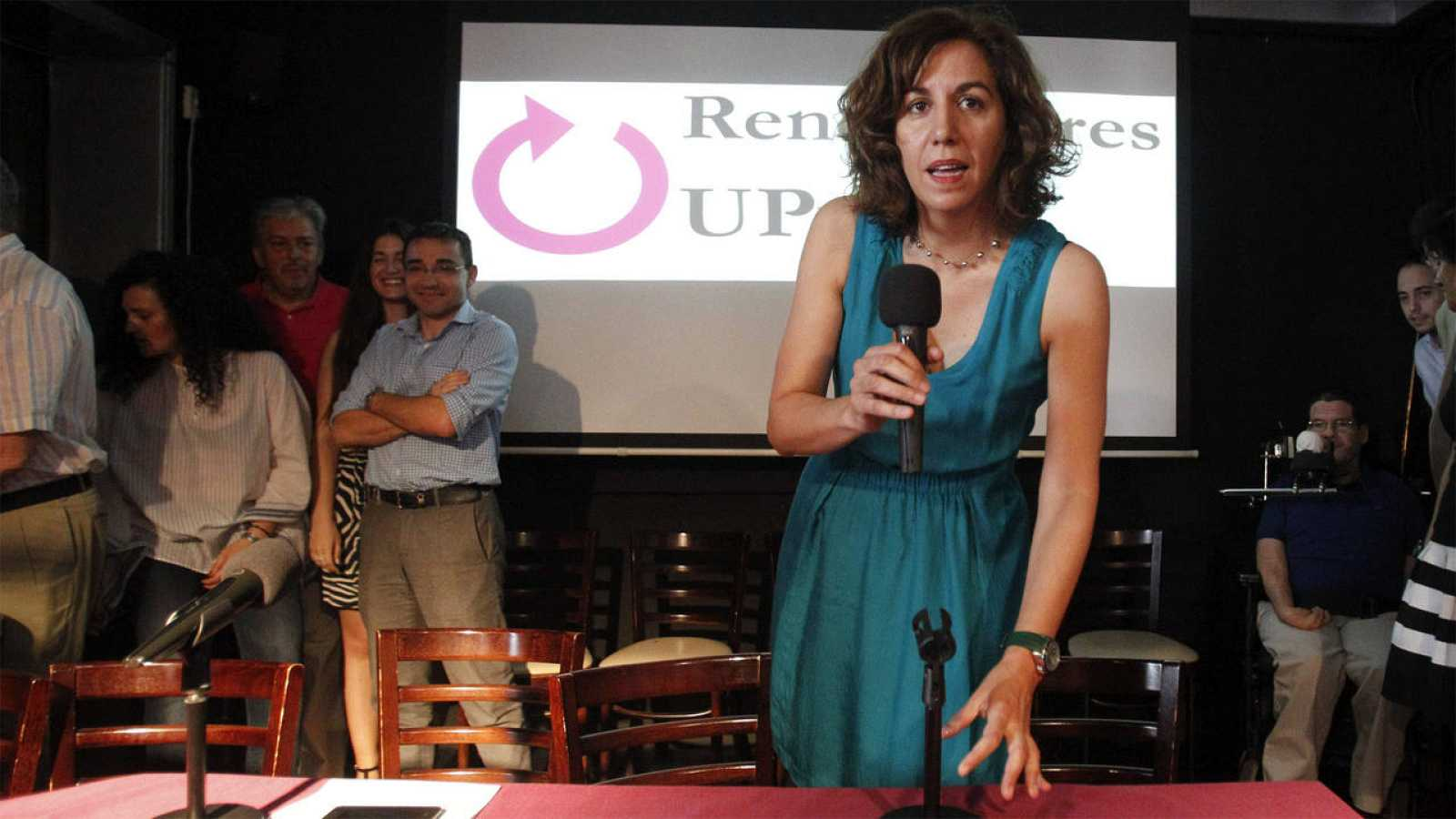 Irene Lozano, durante la presentación hoy de la candidatura Renovadores