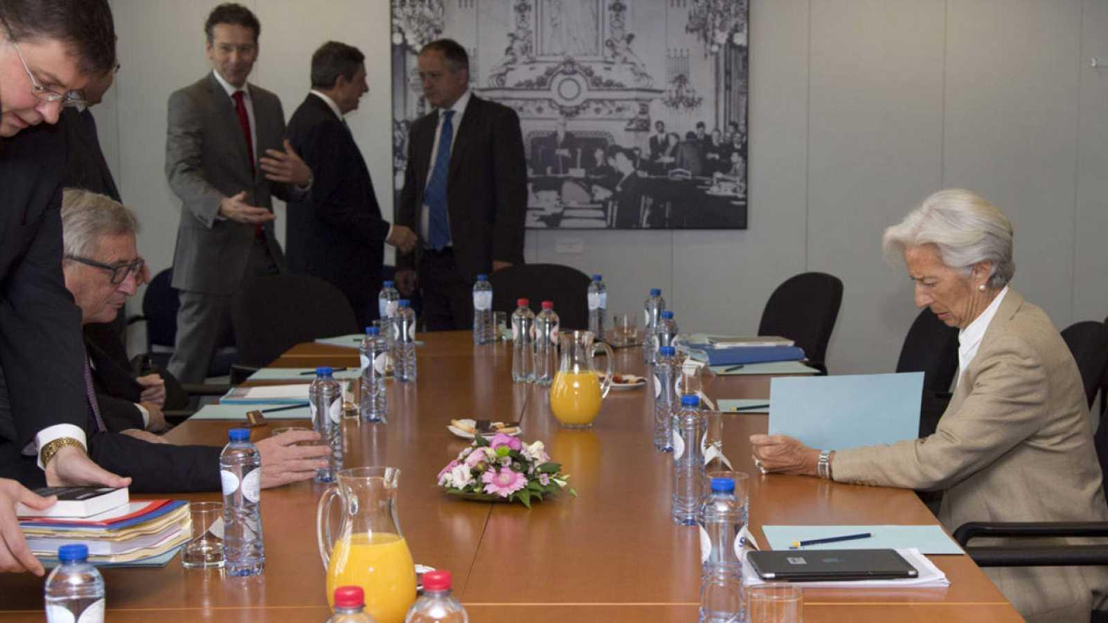 Reunión de los máximos responsables de las instituciones acreedoras de Grecia