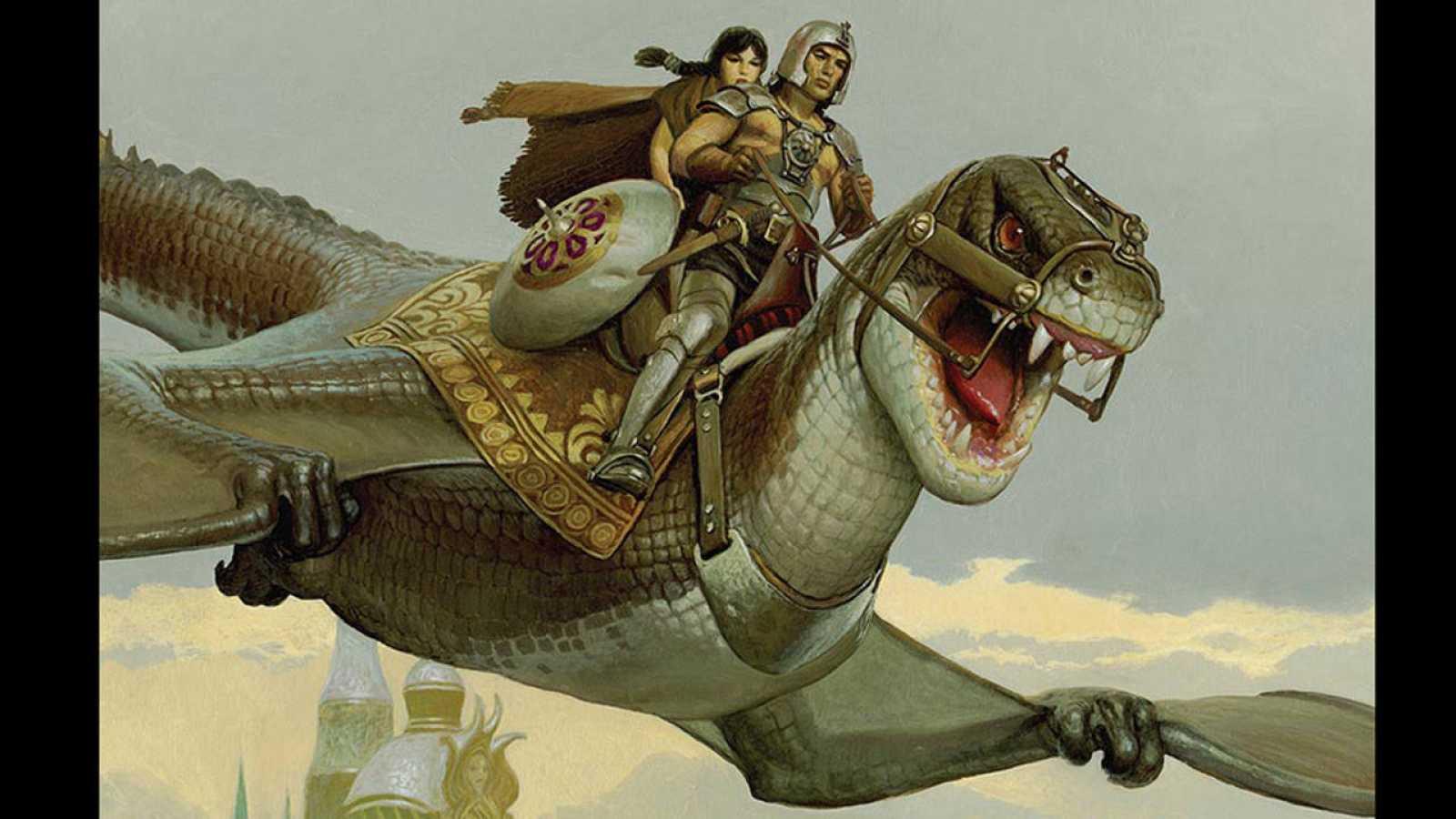 Fragmento de una ilustración de 'El mercenario'