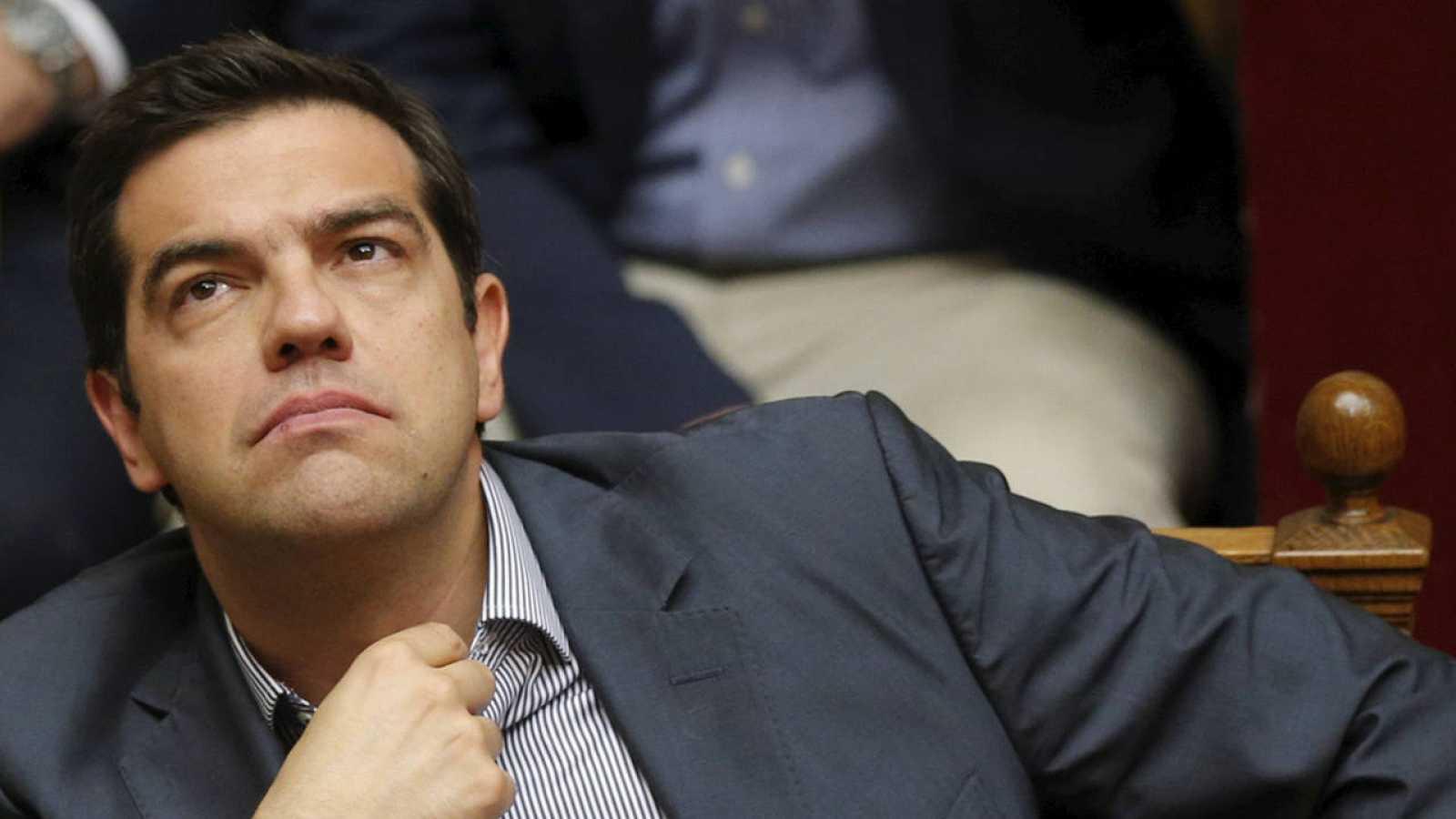 El primer ministro griego, Alexis Tsipras, durante el debate en el Parlamento sobre su plan de reformas.