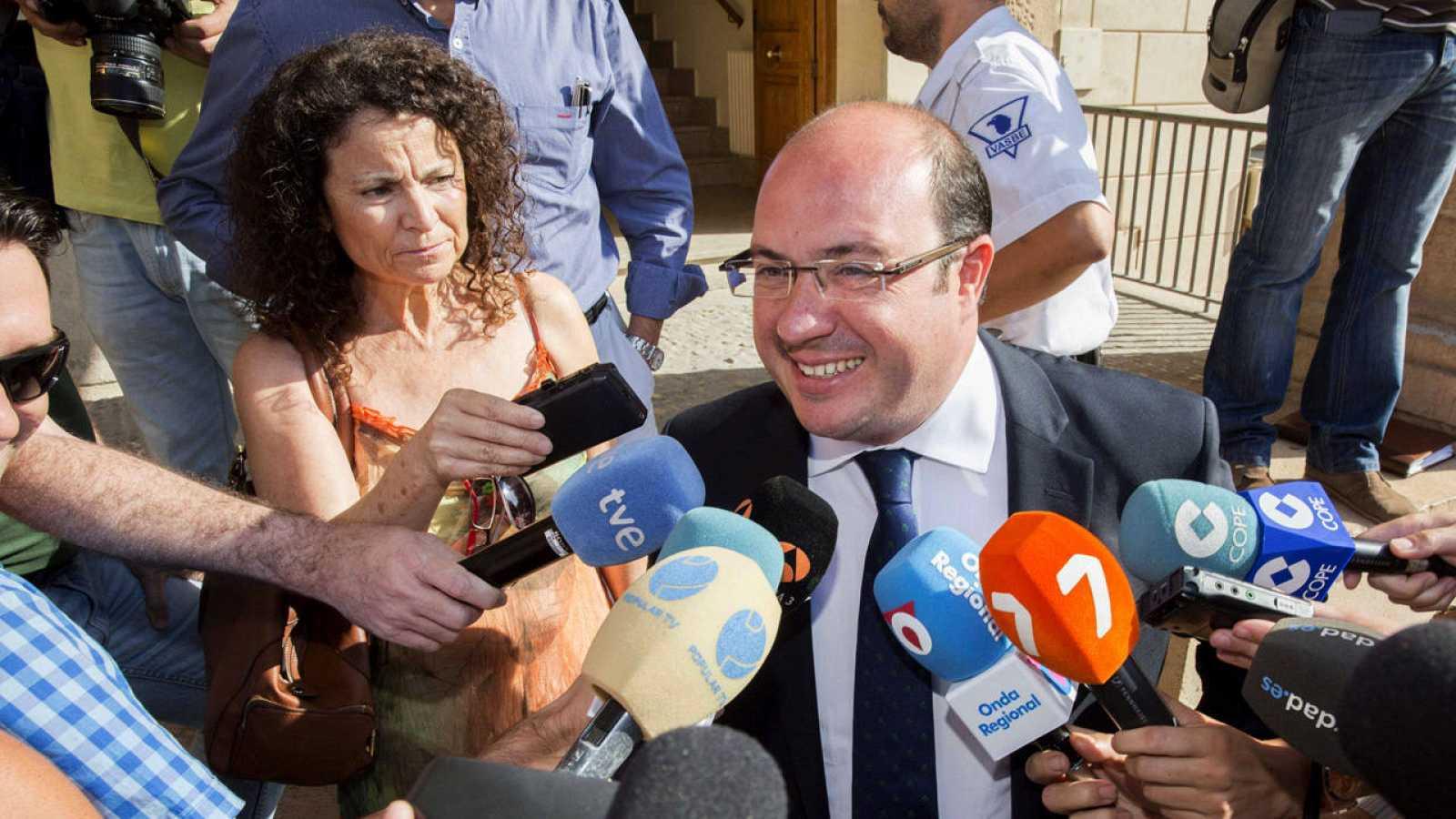 El presidente de Murcia, Pedro Antonio Sánchez, tras comparecer ante la juez por el 'caso Auditorio'