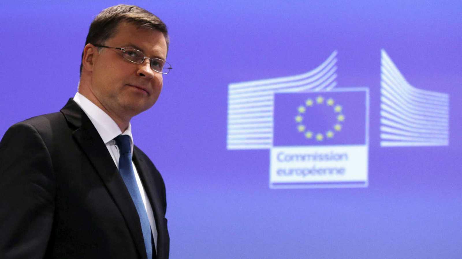 El vicepresidente de la Comisión Europea para el Euro, Valdis Dombrovskis