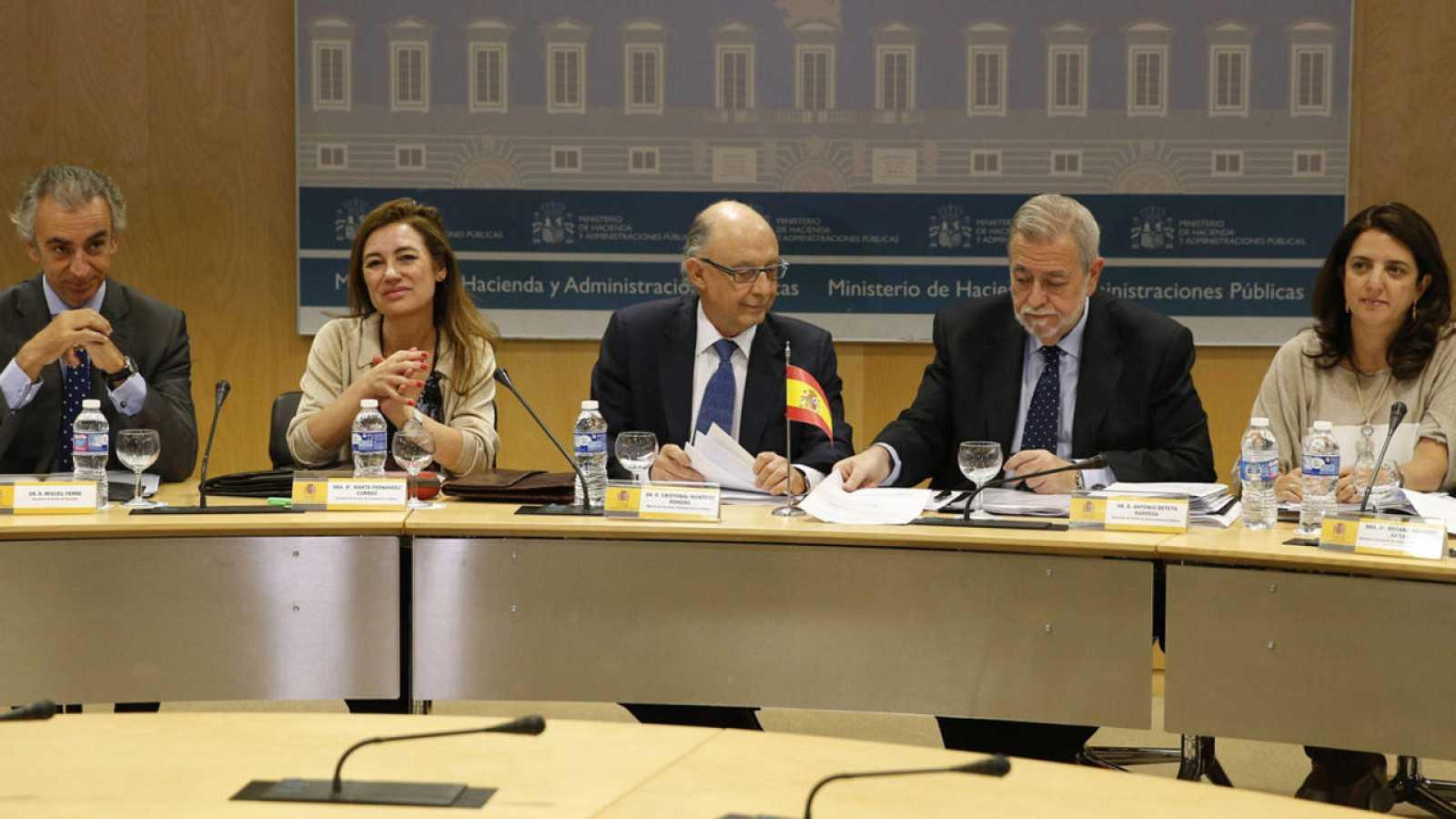 El Ministro de Hacienda, Cristóbal Montoro, durante el CPFF del pasado 8 de julio