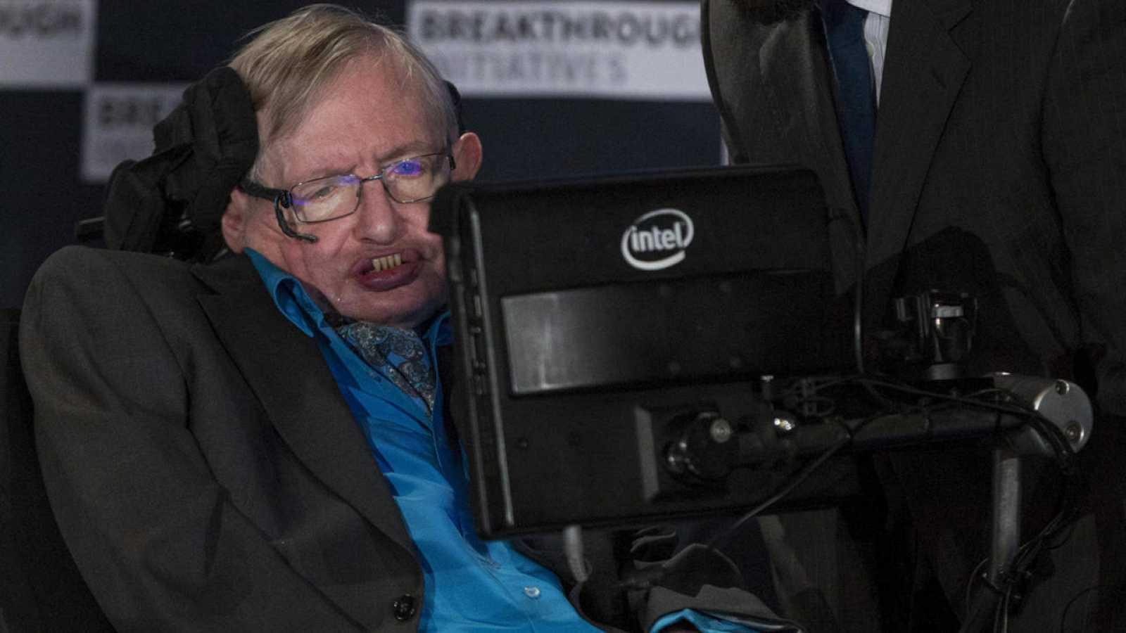 Stephen Hawking durante una iniciativa global por la ciencia en el Royal Society de Londres, en julio de 2015