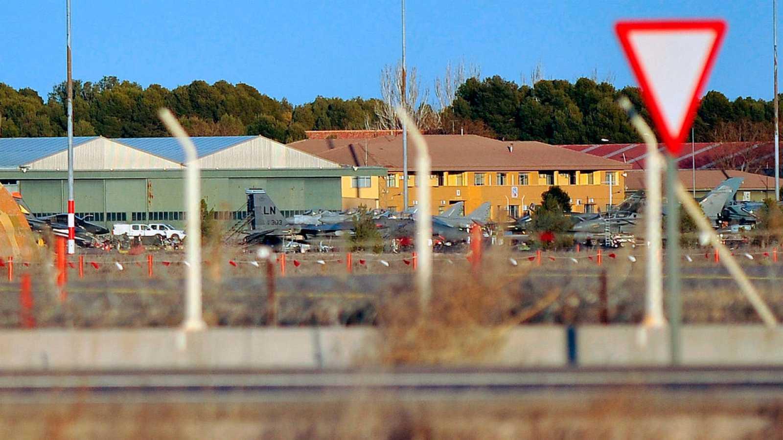Vista de la base aérea de Los Llanos tras el accidente del F-16 griego, el pasado 27 de enero.