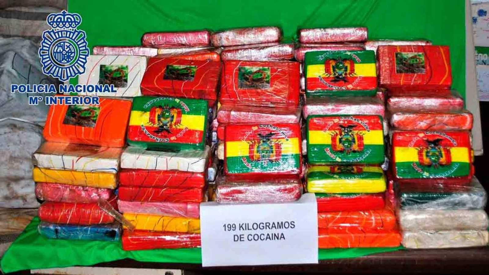 Alijo de cocaína hallado en el buque interceptado el pasado 13 de junio procedente de Brasil con destino Las Palmas