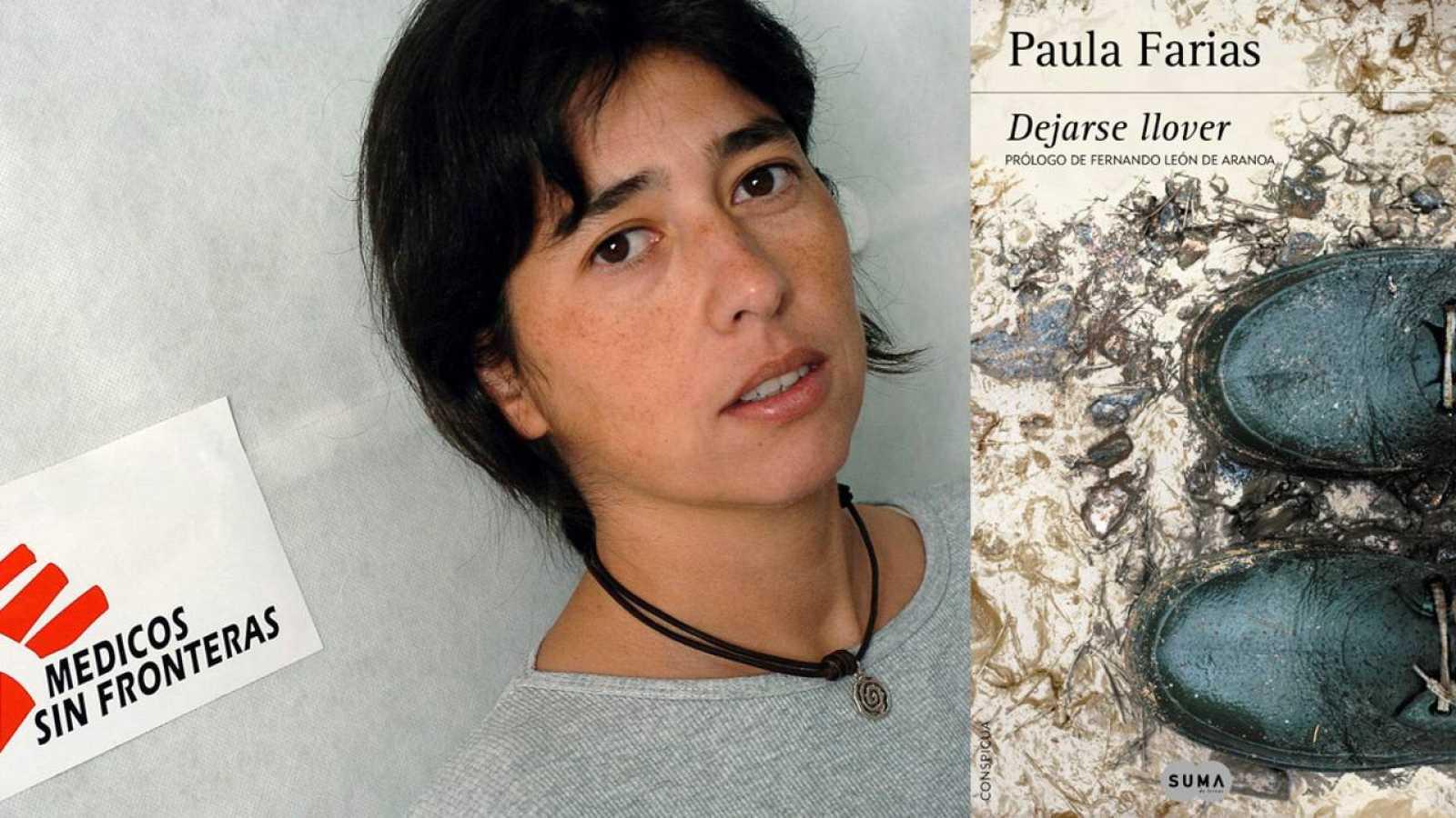 Paula Farias y la portada de su novela 'Dejarse llover'