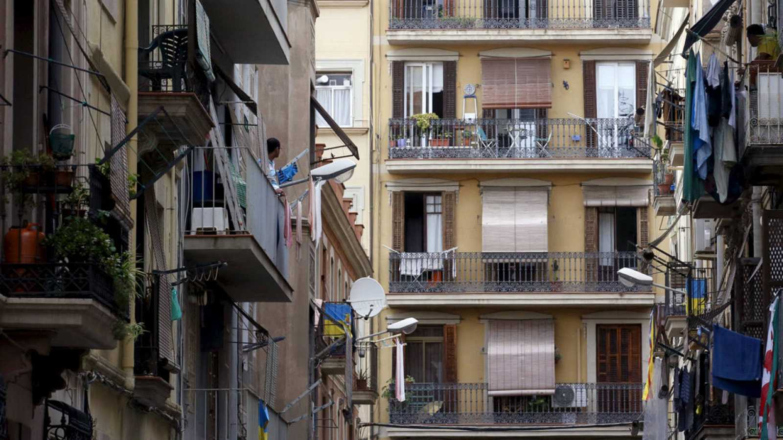 Edificios del barrio de la Barceloneta en Barcelona