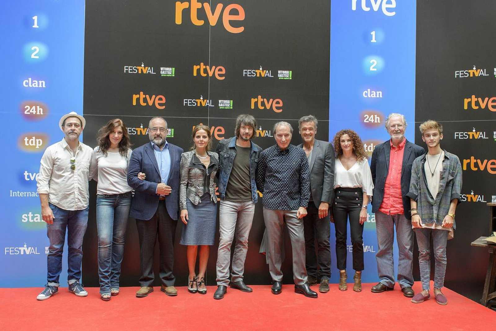 El reparto de 'Águila Roja', un clásico en el FesTVal de Vitoria