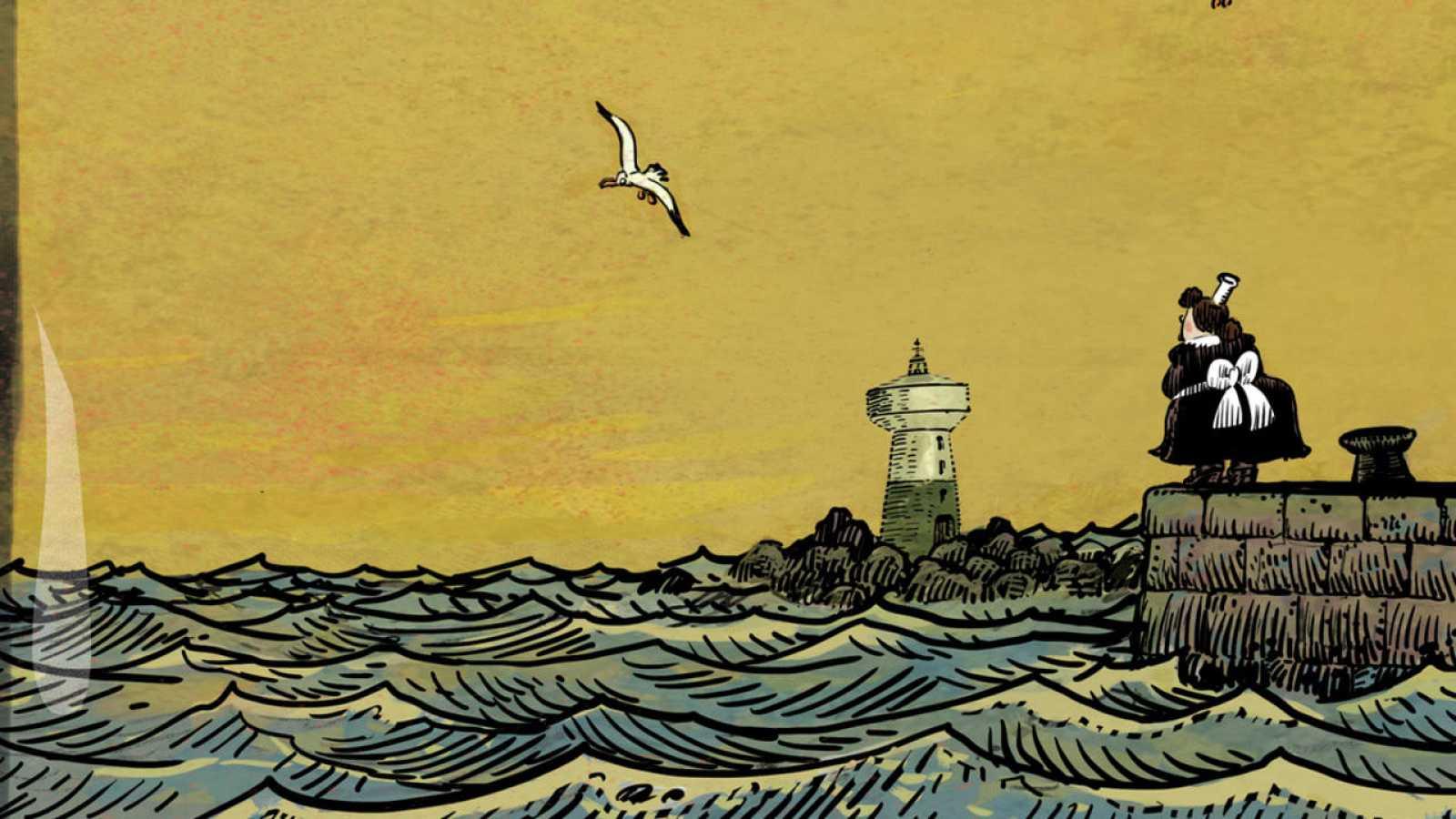 Fragmento de la portada de 'Un océano de amor'