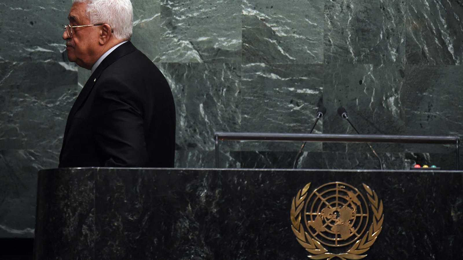 Abás al concluir su discurso ante la Asamblea General de la ONU