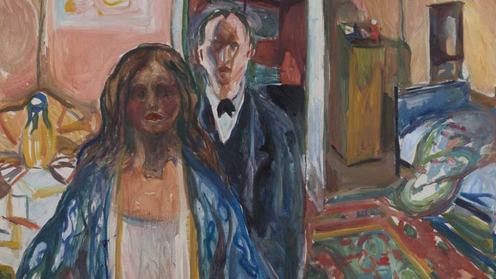 'El artista y la modelo' (1919-1921), Edvard Munch, Munch Museet Oslo.