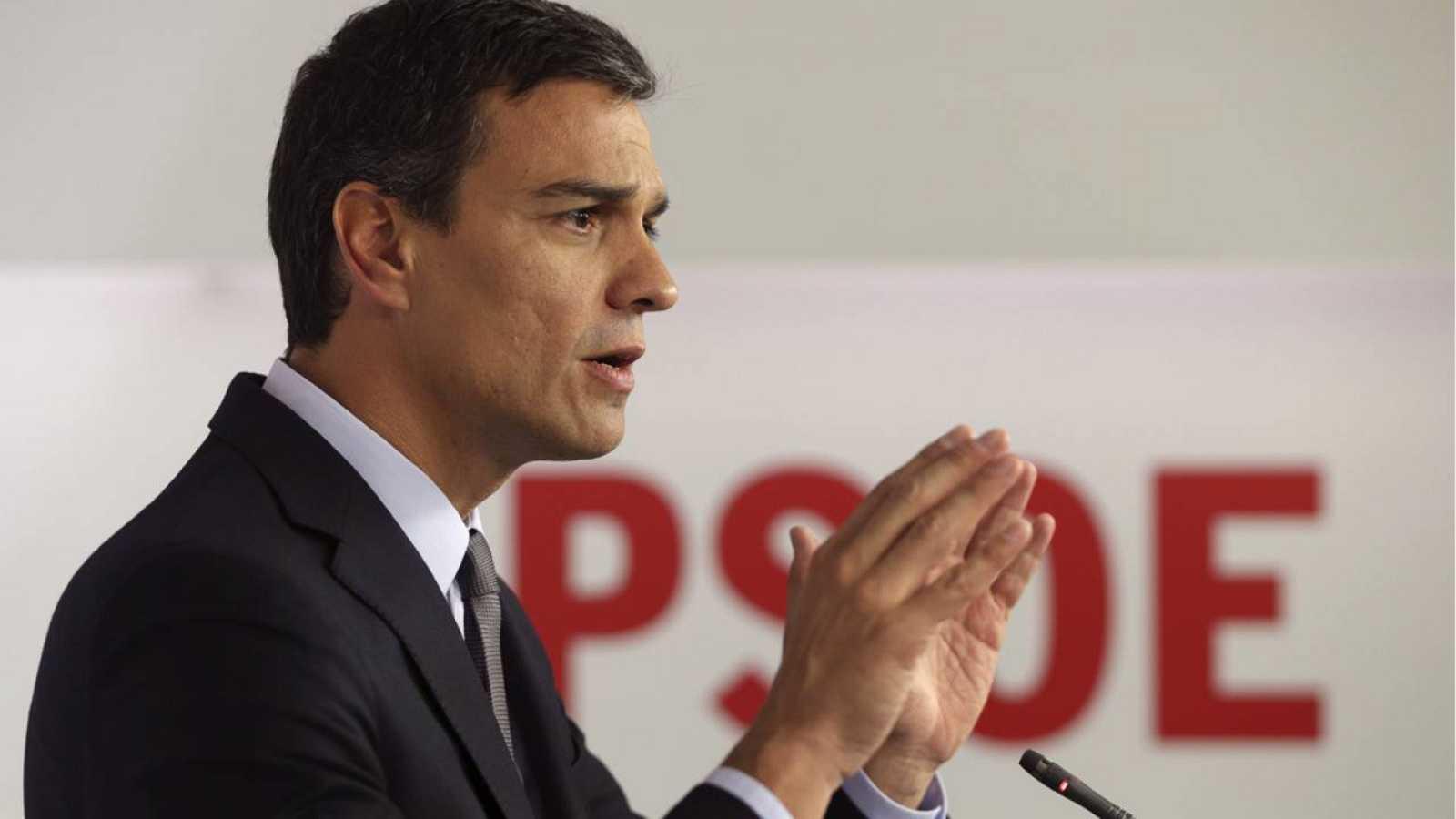 El secretario general del PSOE y candidato a la presidencia del Gobierno, Pedro Sánchez