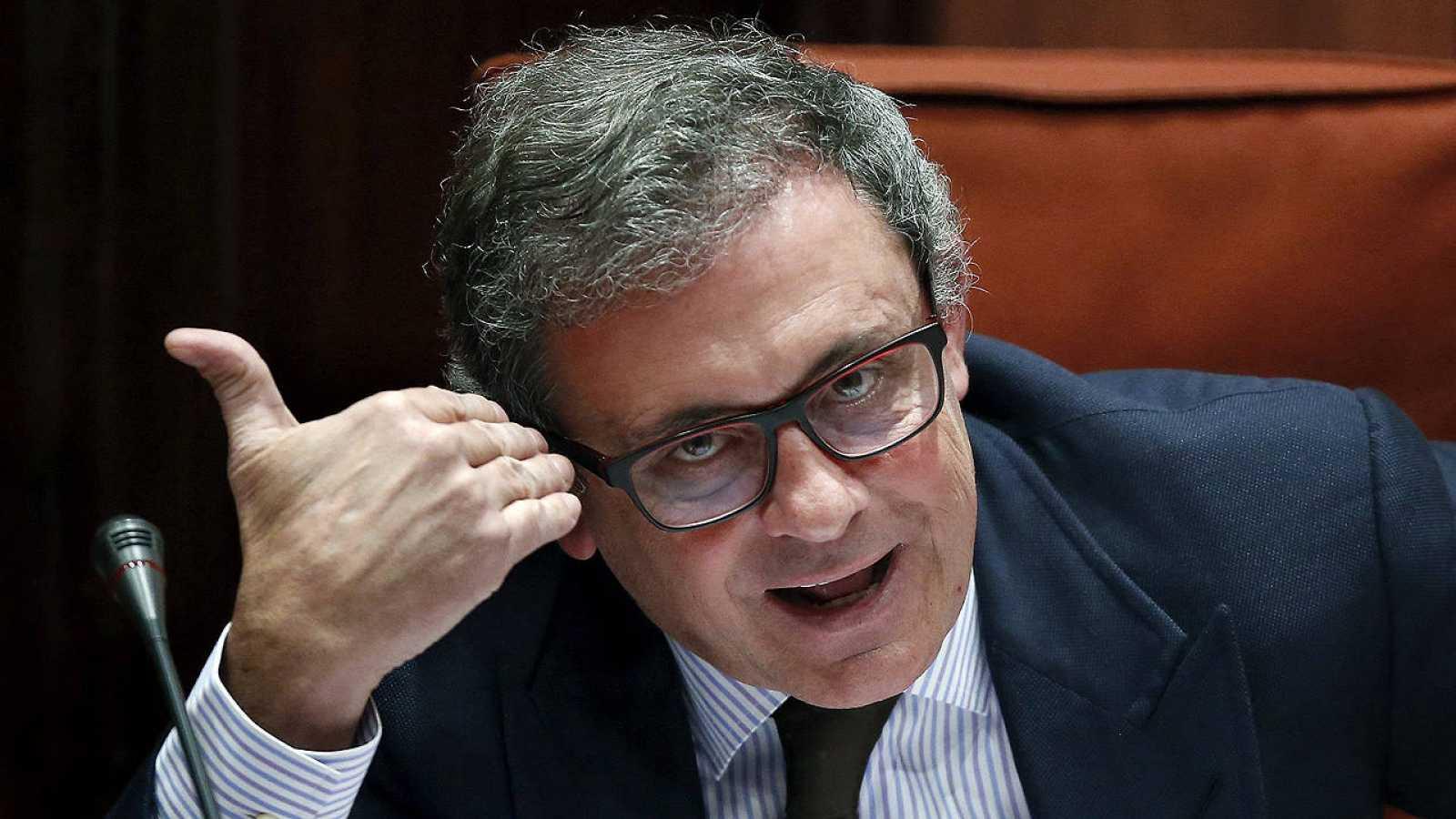 Jordi Pujol Ferrusola el pasado mes de febrero en su declaración ante el Parlament.