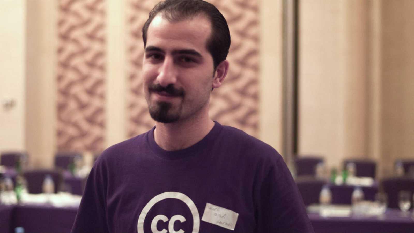 El desarrollador de software de código abierto, Bassel Khartabil, en 2010