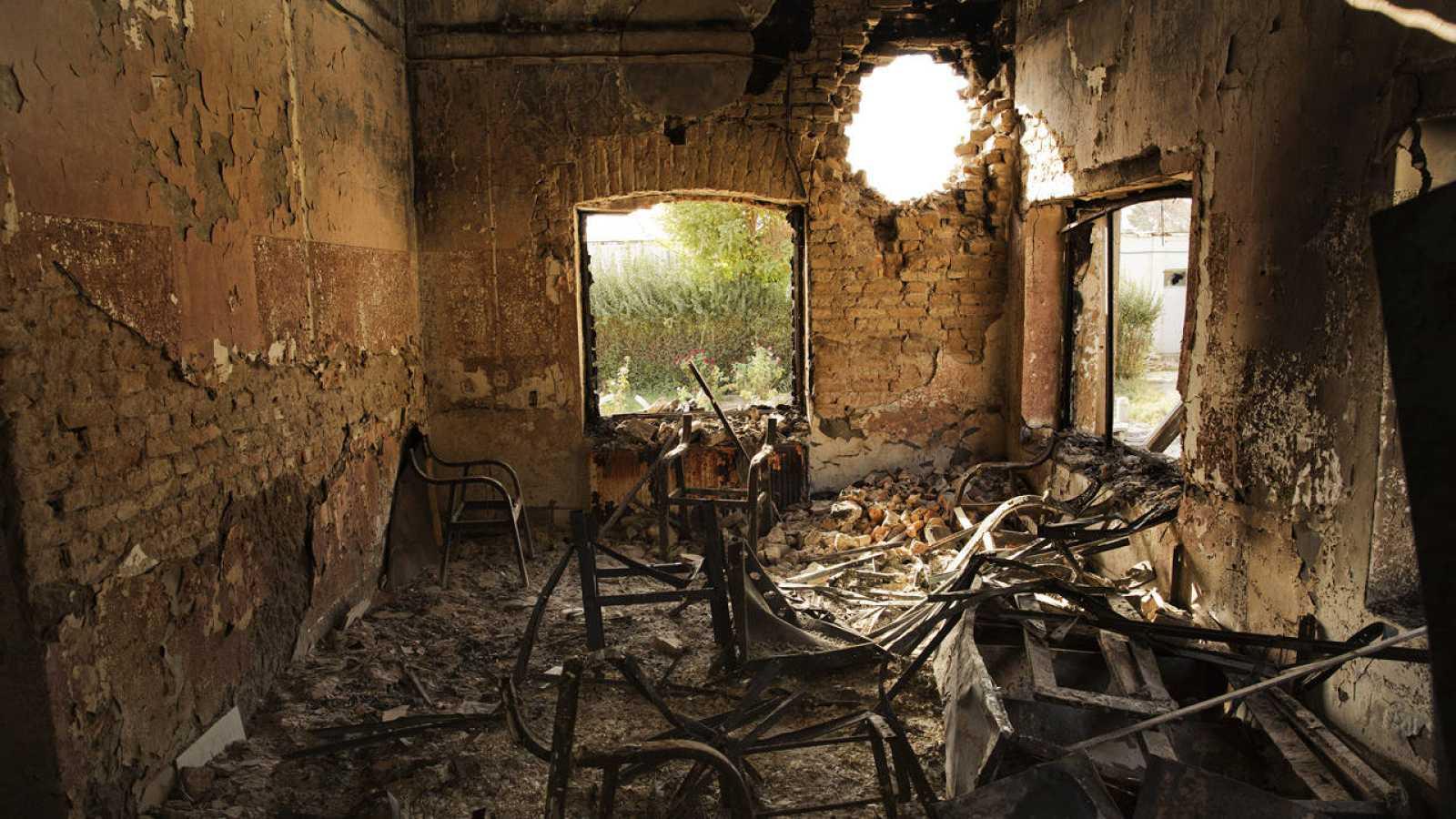 Dependencias del hospital de MSF en Kunduf, al norte de Afganistán, tras el ataque del 3 de octubre