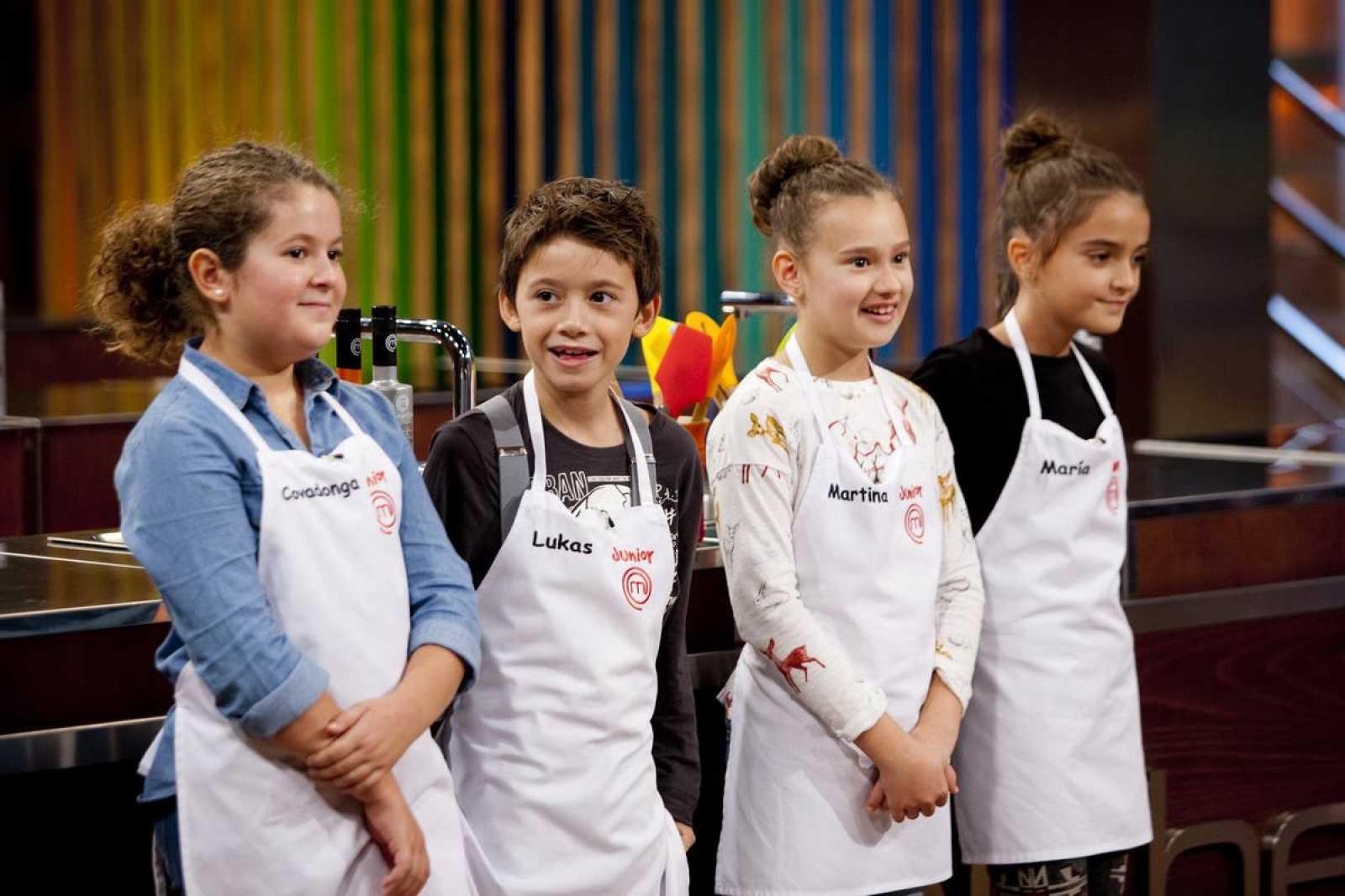 Los cuatro finalistas de MasterChef Junior 3