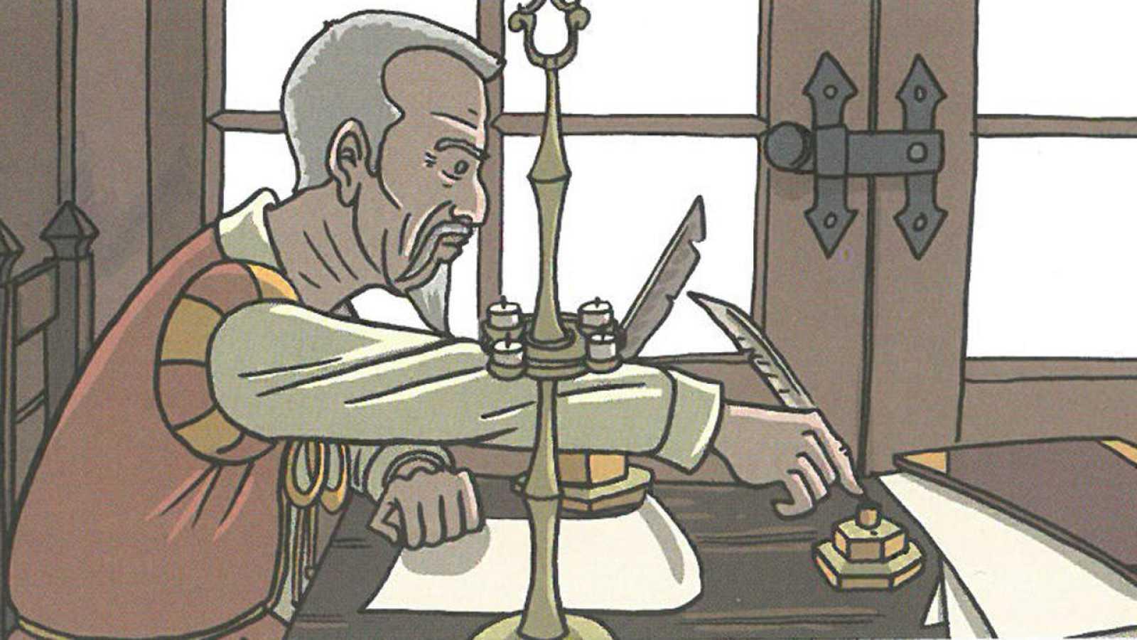 Viñeta de 'Cervantes: La ensoñación del genio'Viñeta de 'Cervantes: La ensoñación del genio'