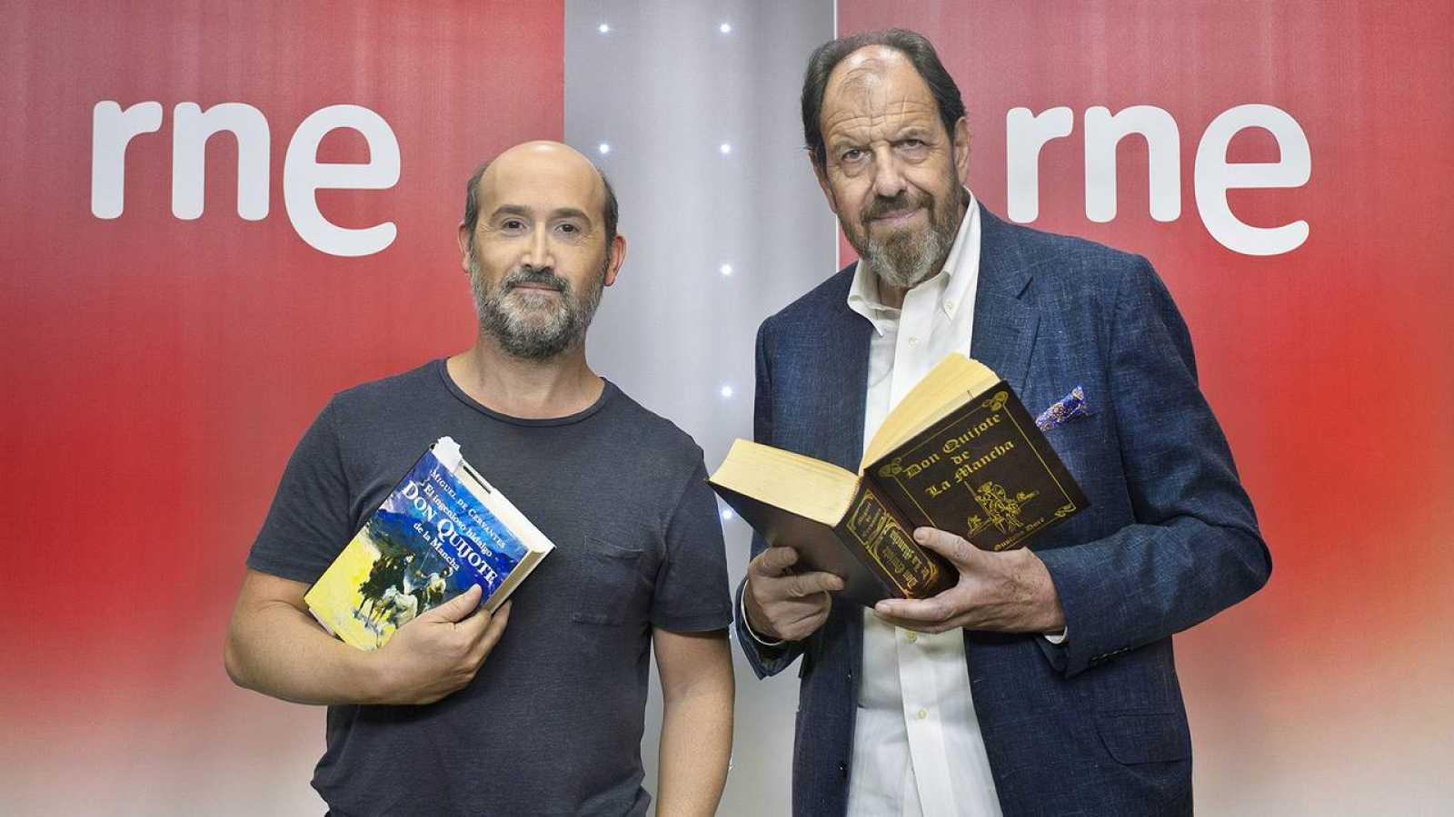 Javier Cámara (Sancho Panza) y José María Pou (Don Quijote).