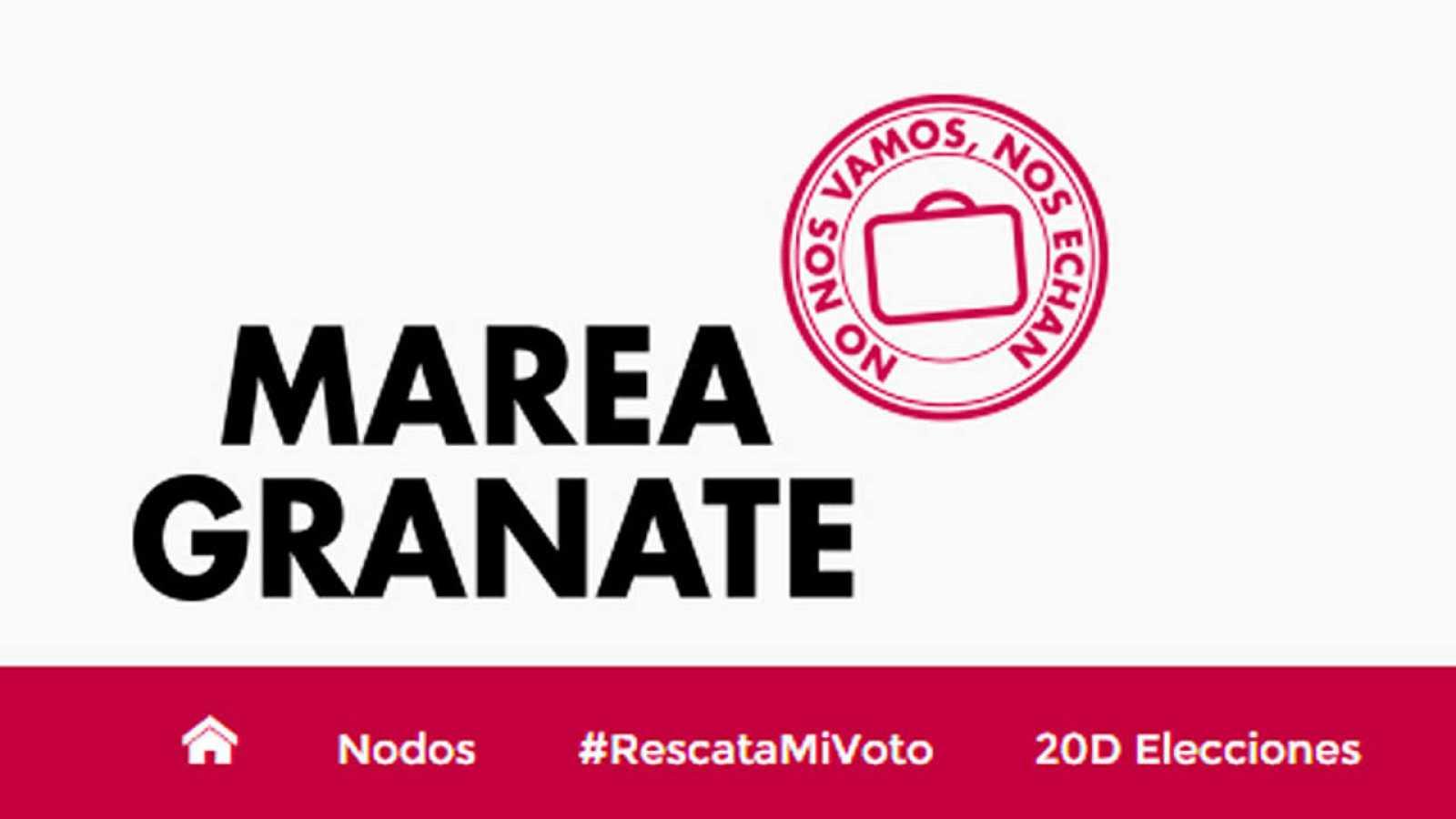 Marea Granate es un movimiento apartidista que reúne a emigrantes españoles