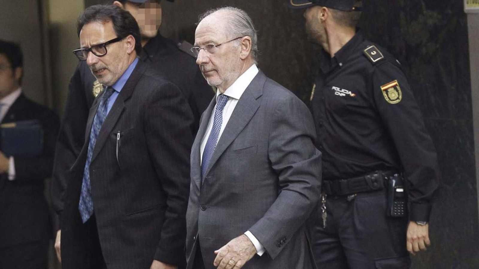El expresidente de Bankia Rodrigo Rato sale de la Audiencia Nacional
