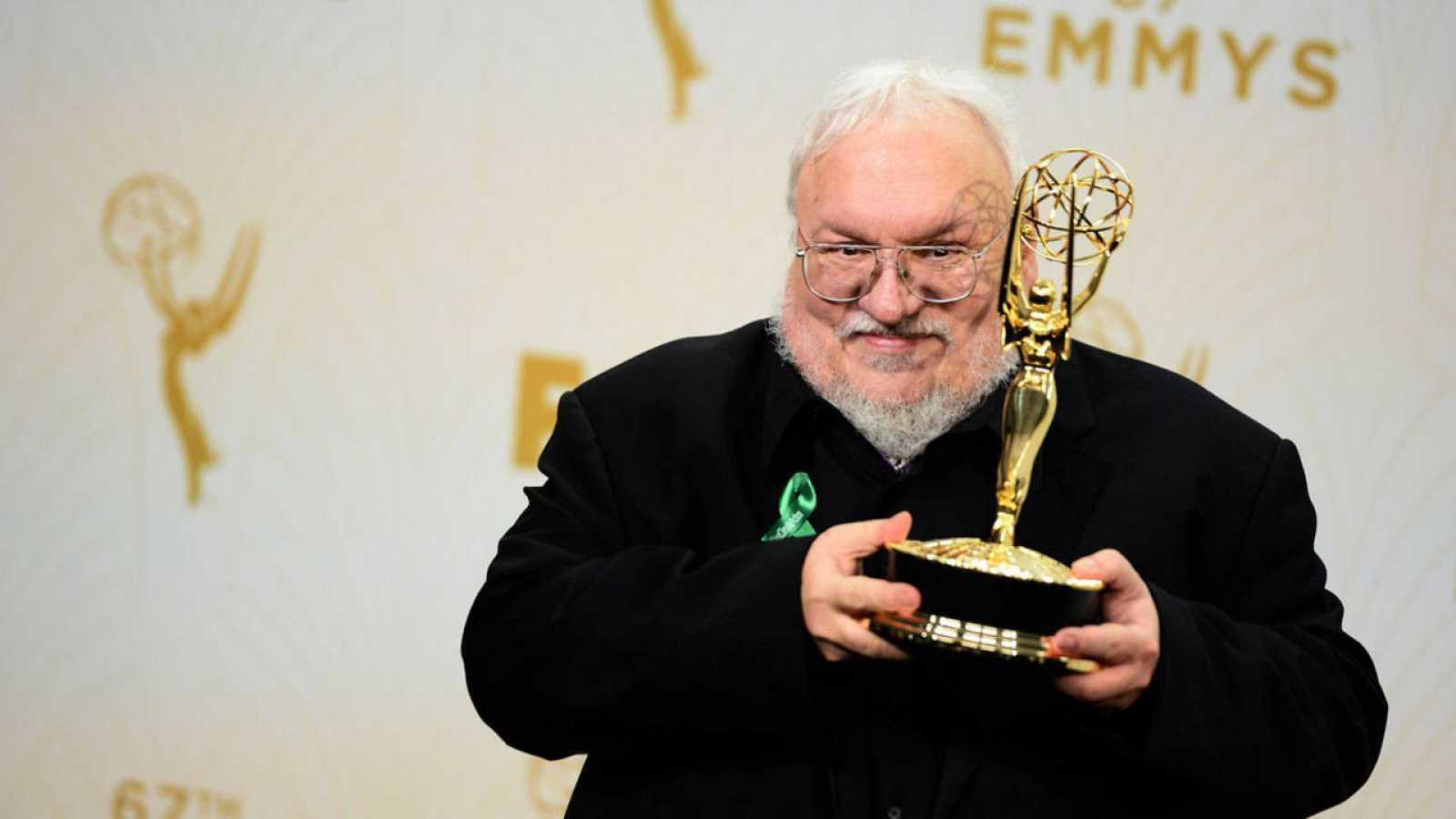 El escritor George R.R. Martin, en la gala de entrega de los premios Emmy