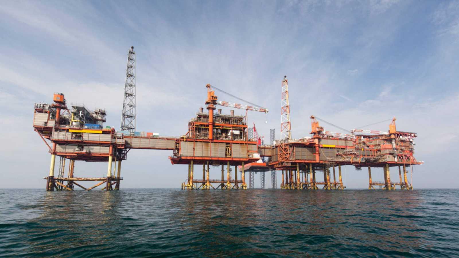 Plataforma petrolífera en el Mar del Norte