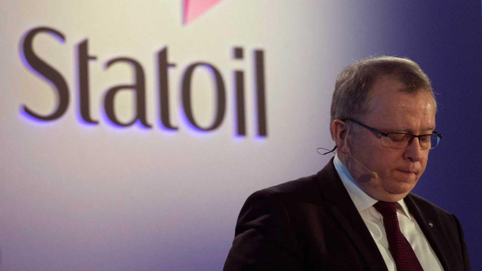 El director ejecutivo de Statoil, Eldar Sætre, presenta los resultados de la empresa en Londres