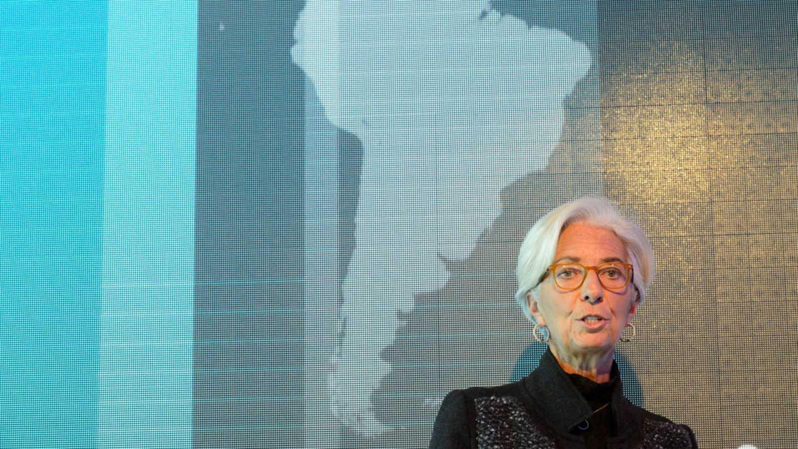 La directora gerente del FMI, Christine Lagarde, en Davos (Suiza) el pasado 20 de enero