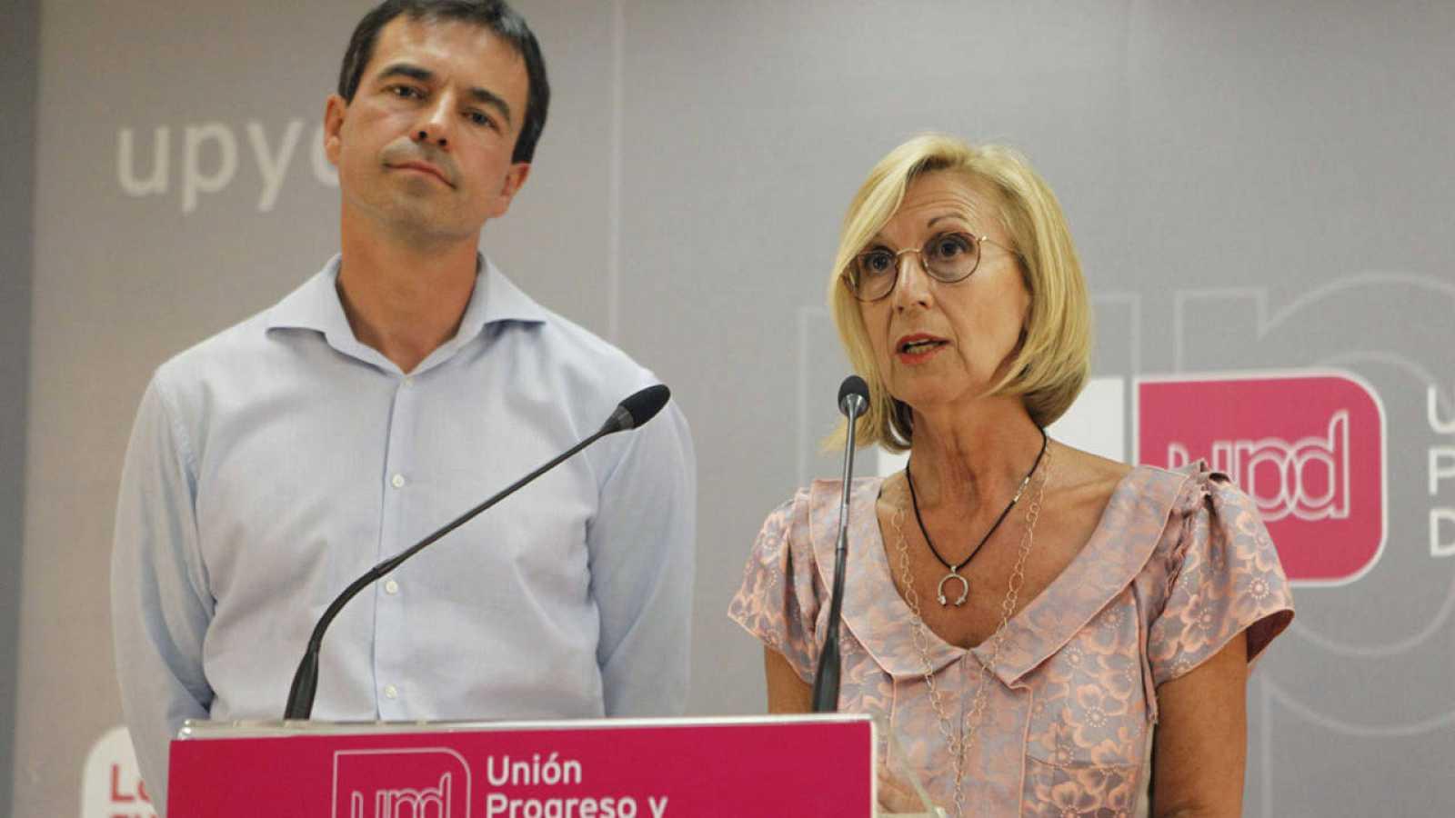 Los dos últimos responsables de UPyD, Rosa Díez y Andrés Herzog