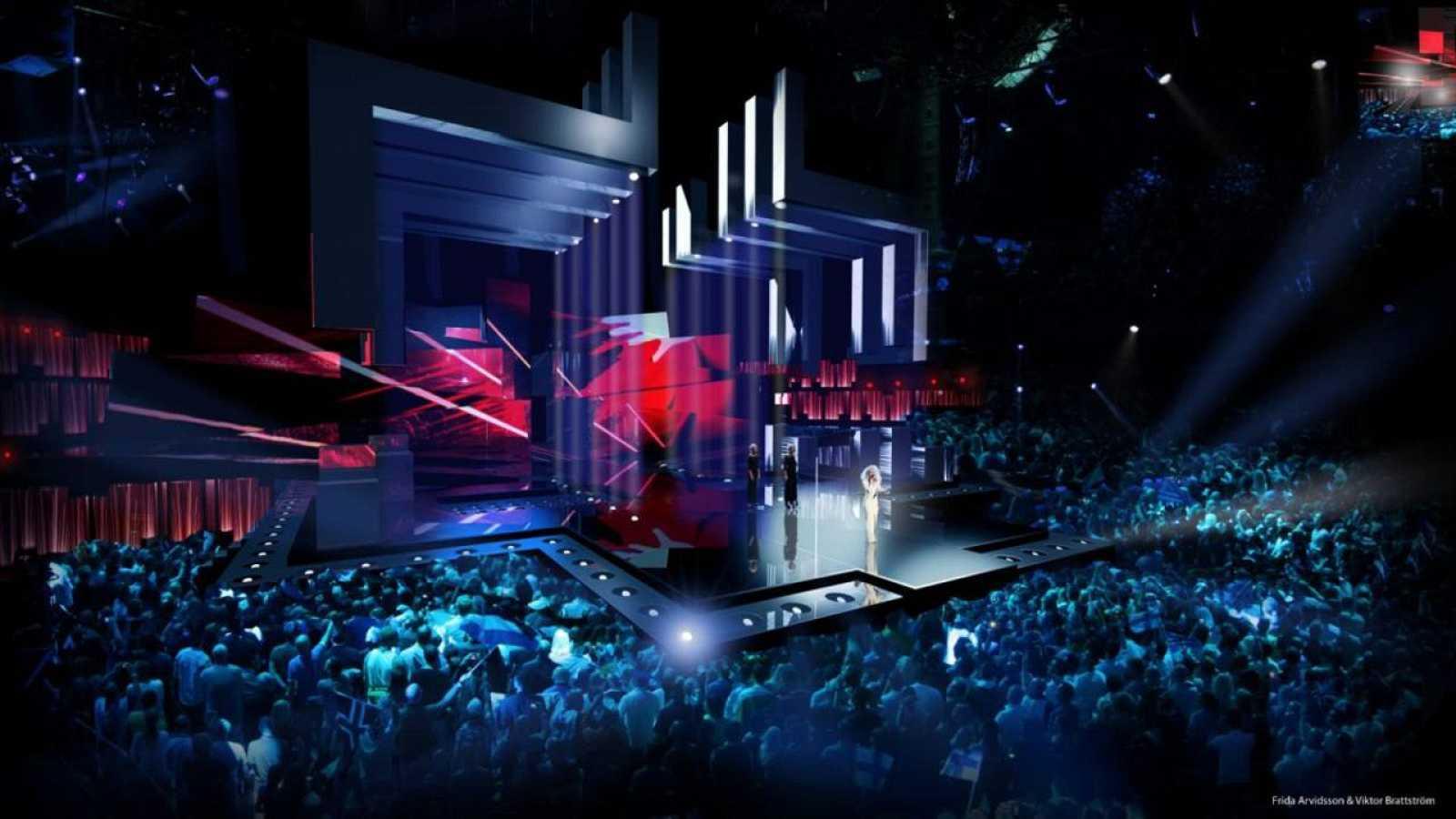 Diseño del escenario de Estocolmo 2016