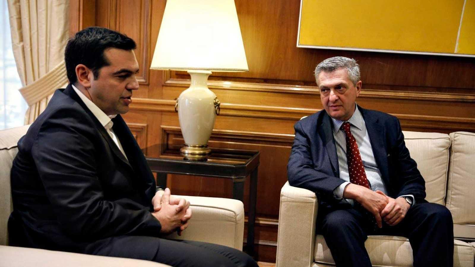 Tsipras se ha reunido con el Alto Comisionado de Naciones Unidas para los Refugiados, Filippo Grandi