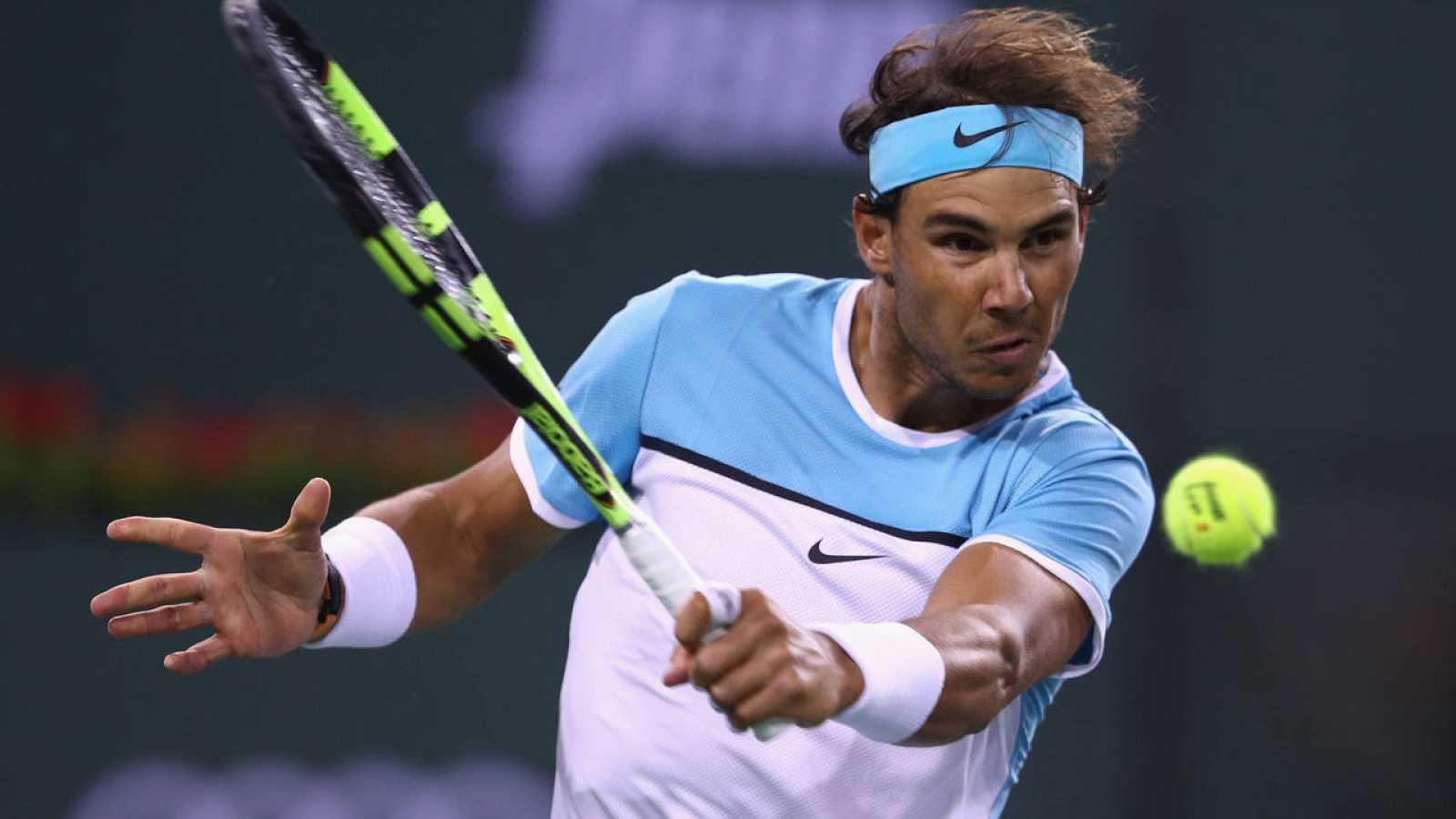 Rafa Nadal, ante Gilles Muller en Indian Wells.
